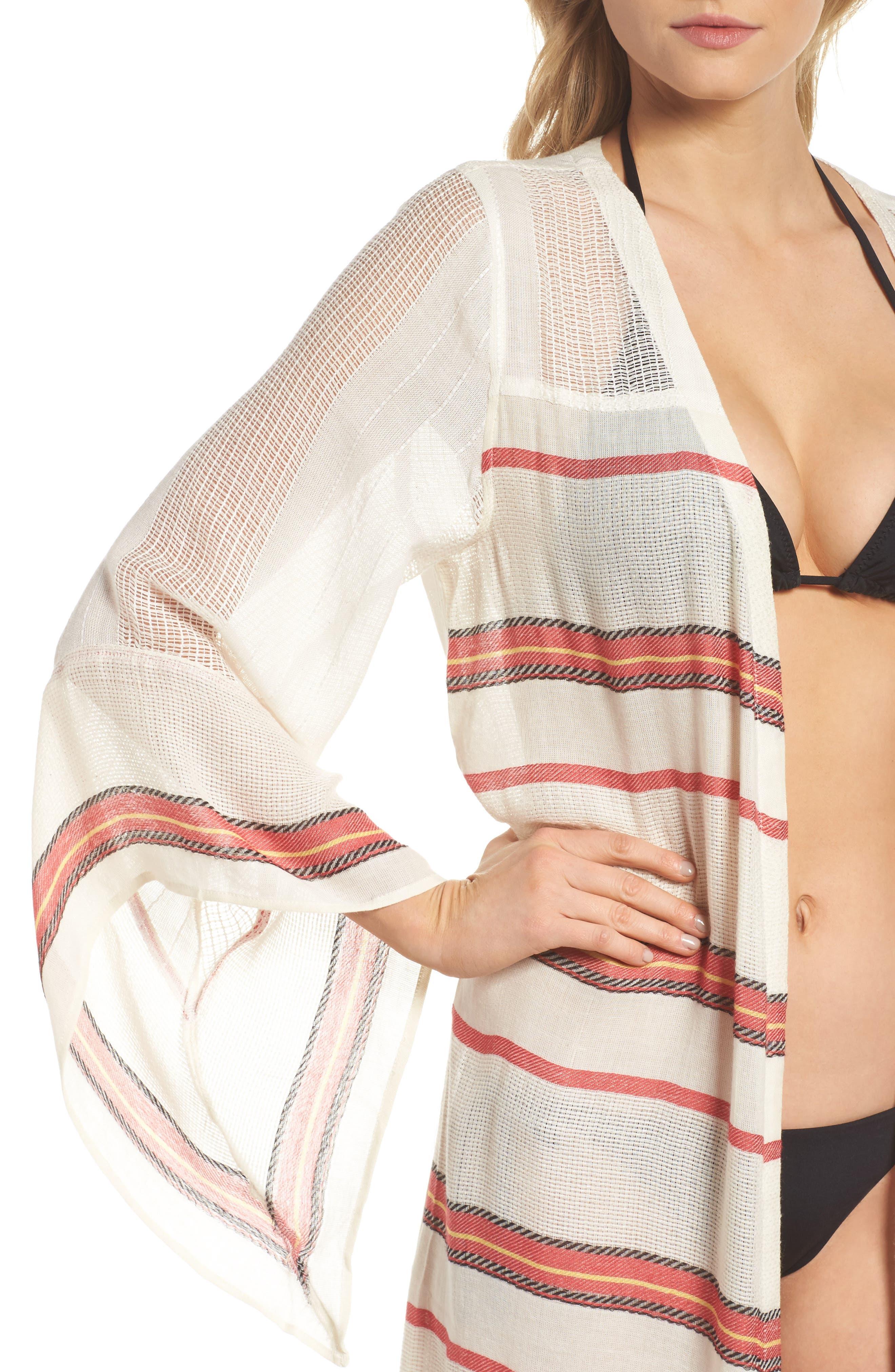 Paradise Cover-Up Kimono,                             Alternate thumbnail 4, color,                             250