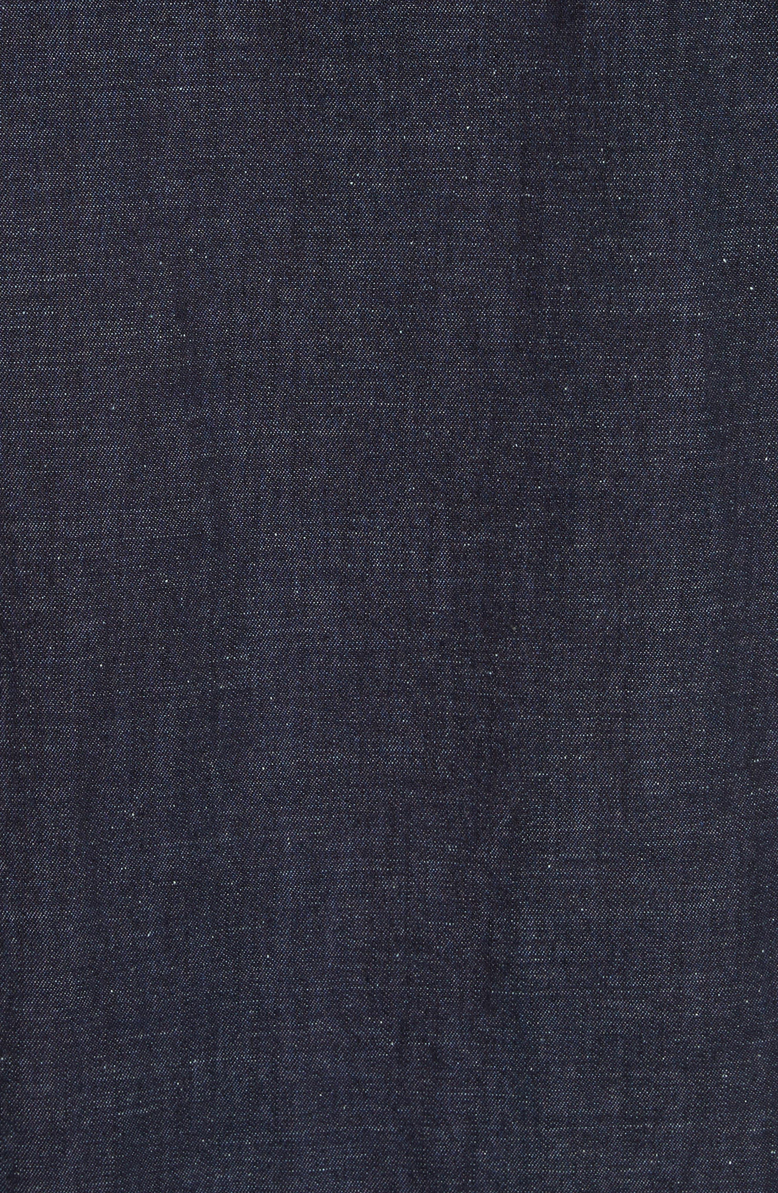 Cotton Blend Zip Shirt,                             Alternate thumbnail 5, color,                             410