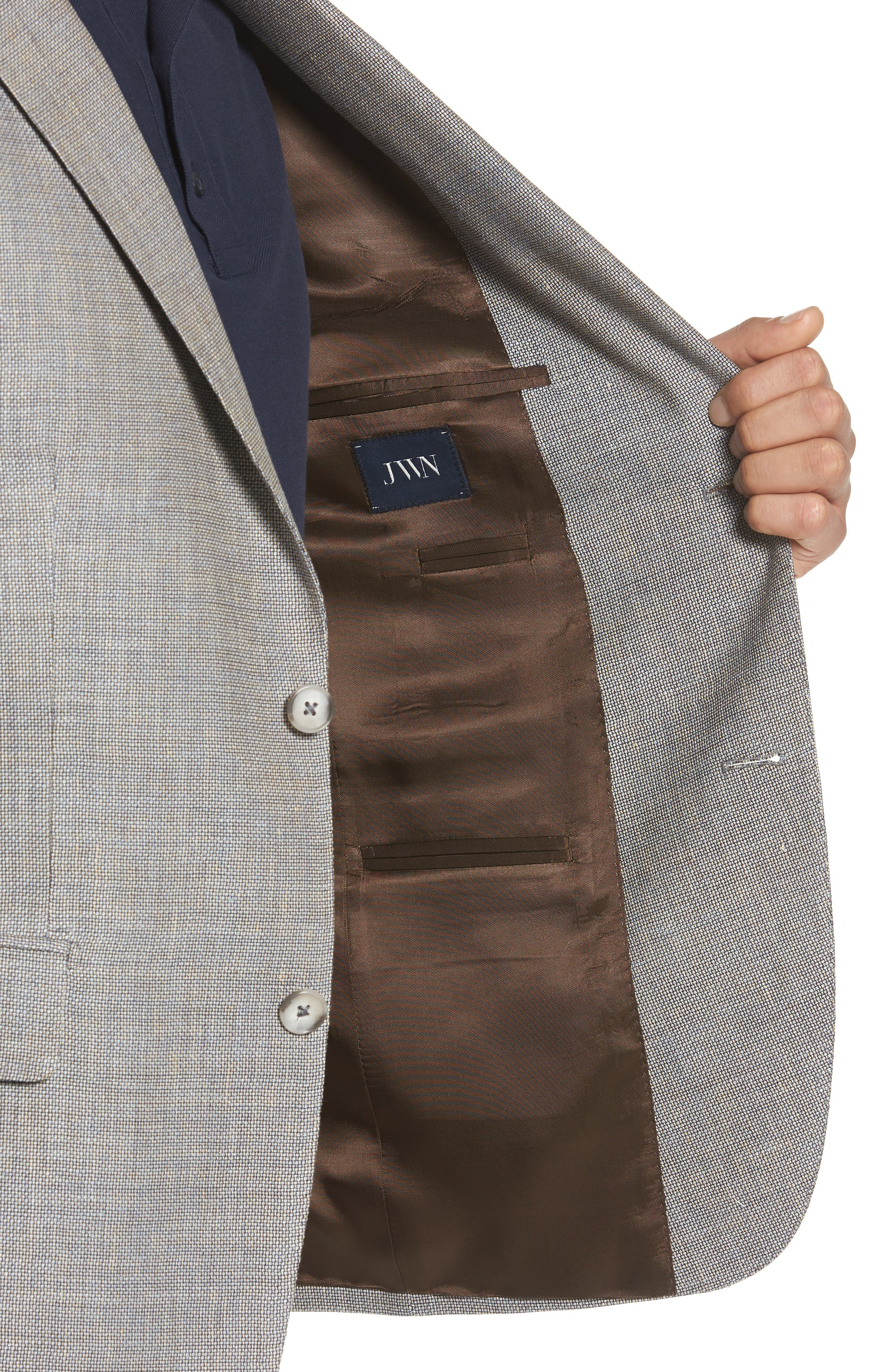Traditional Fit Linen & Wool Sport Coat,                             Alternate thumbnail 4, color,                             210