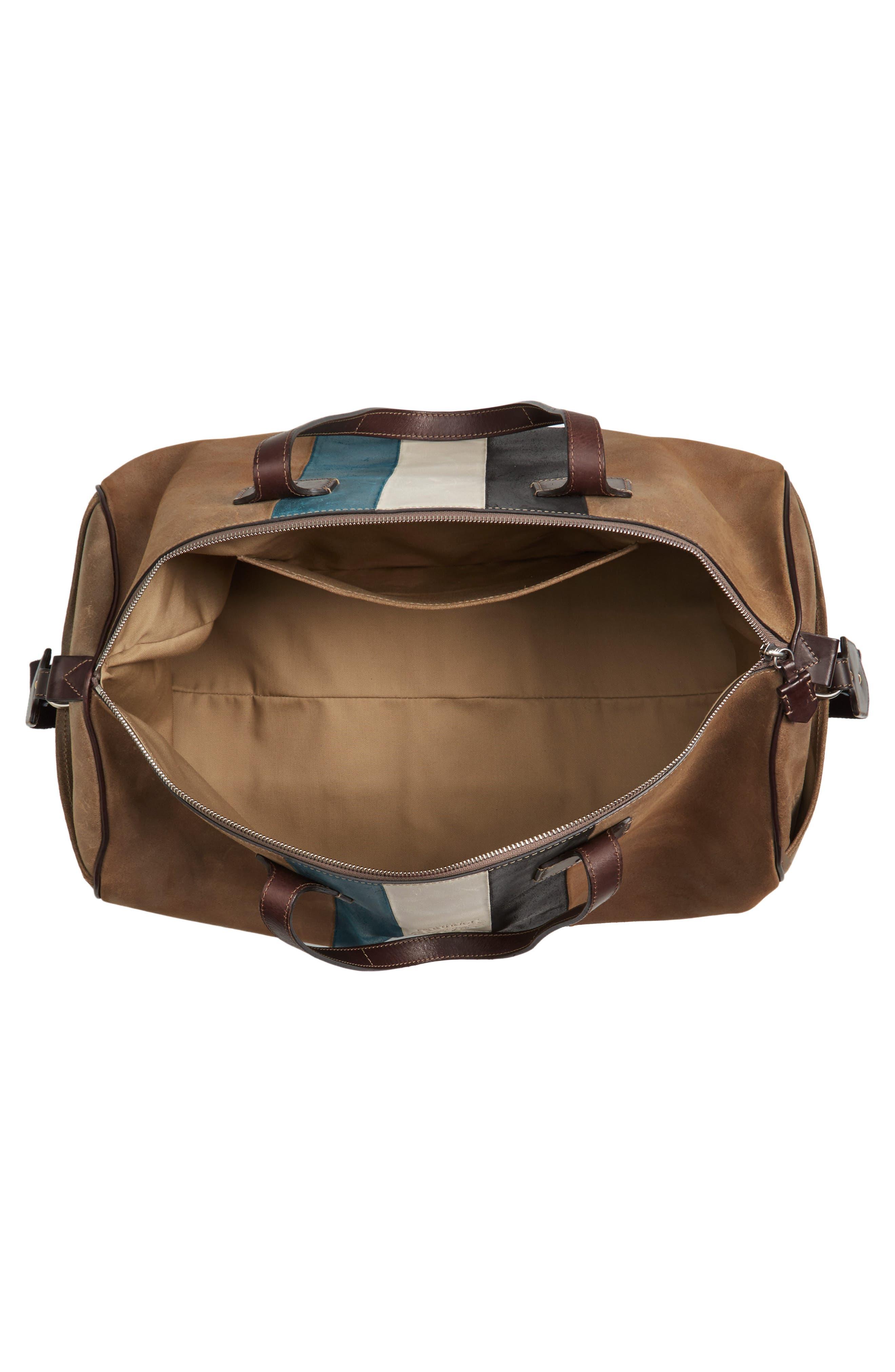 Grove Stripe Leather Duffel Bag,                             Alternate thumbnail 3, color,                             250