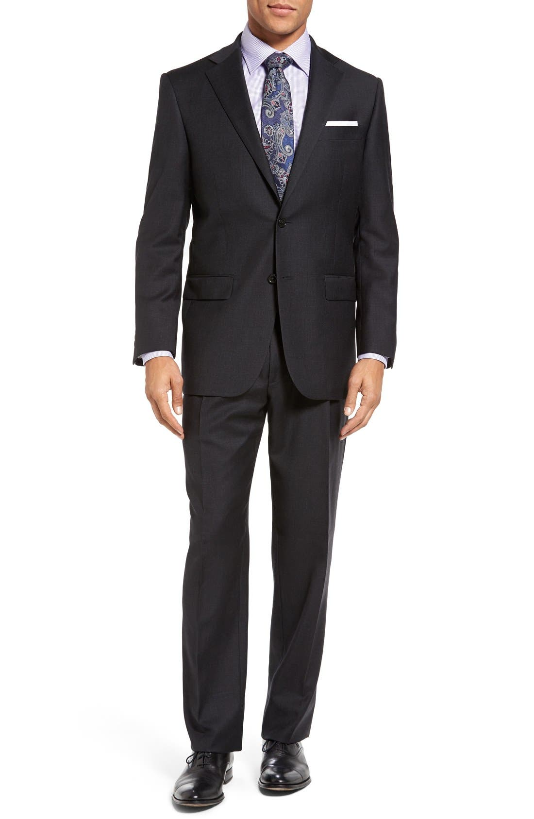 Chicago Classic Fit Solid Wool Suit,                             Main thumbnail 1, color,                             010