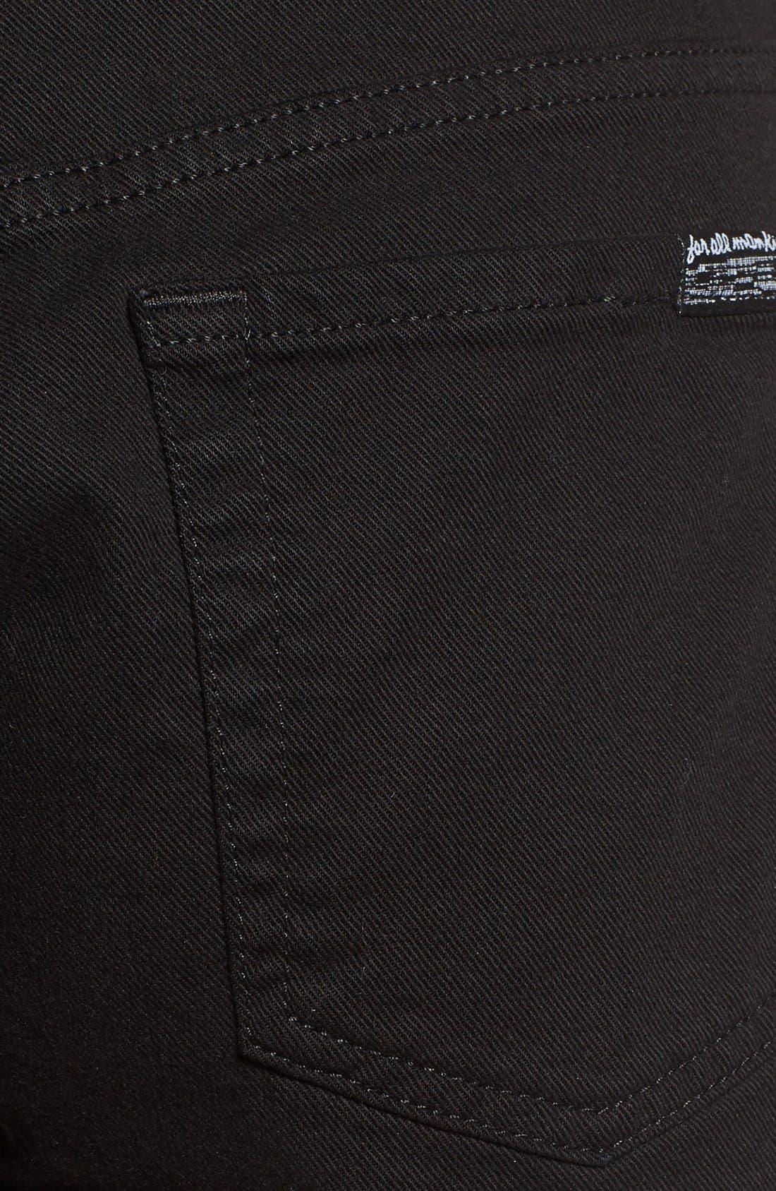 Cutoff Shorts,                             Alternate thumbnail 6, color,                             BLACK