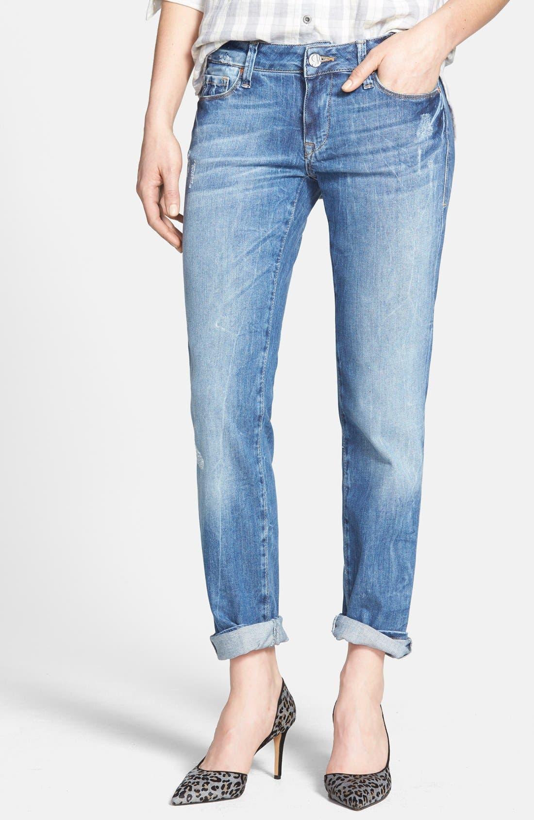 'Emma' Distressed Slim Boyfriend Jeans,                         Main,                         color, 420