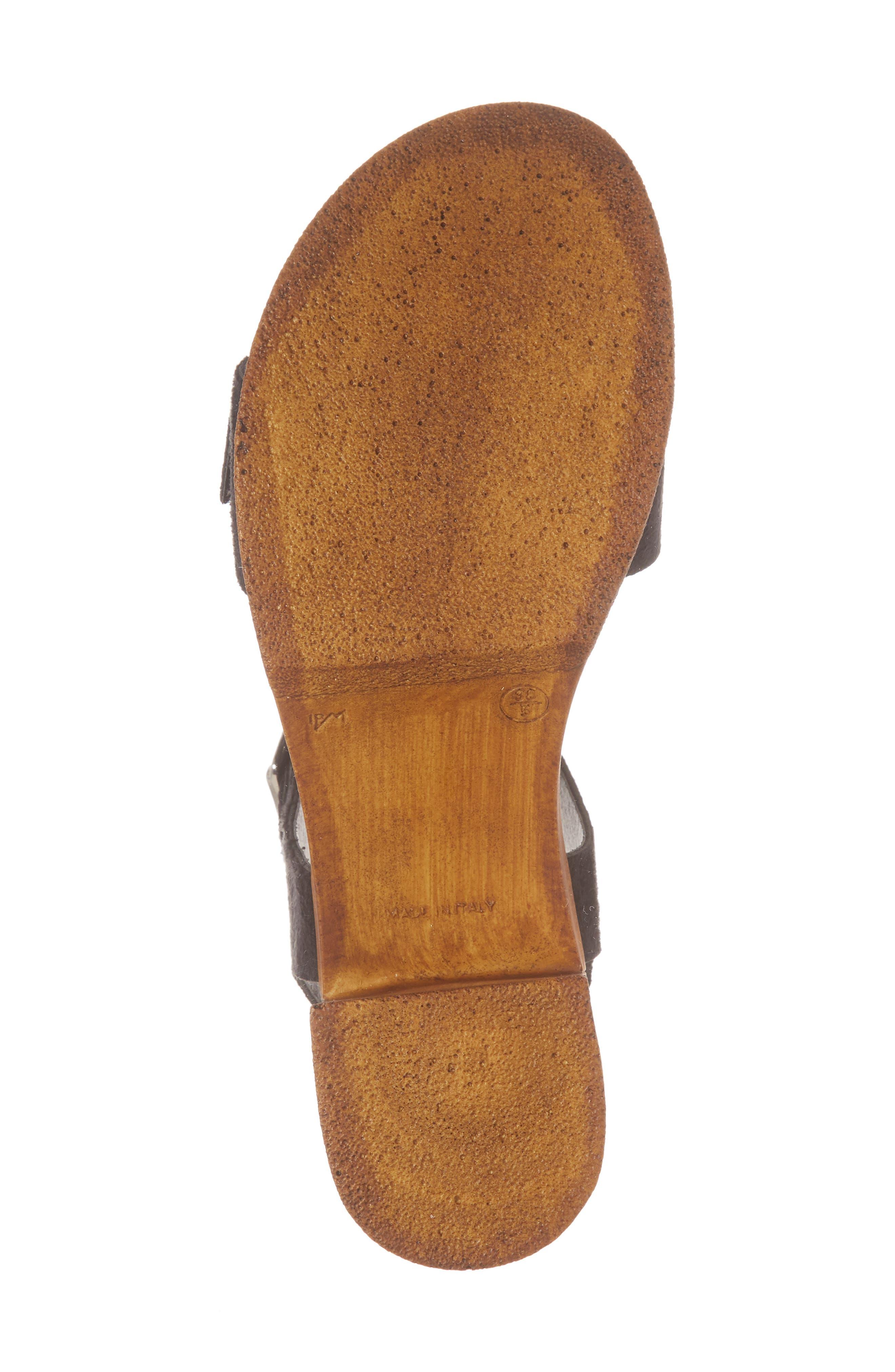 Buckle Platform Sandal,                             Alternate thumbnail 6, color,                             BLACK MULTI