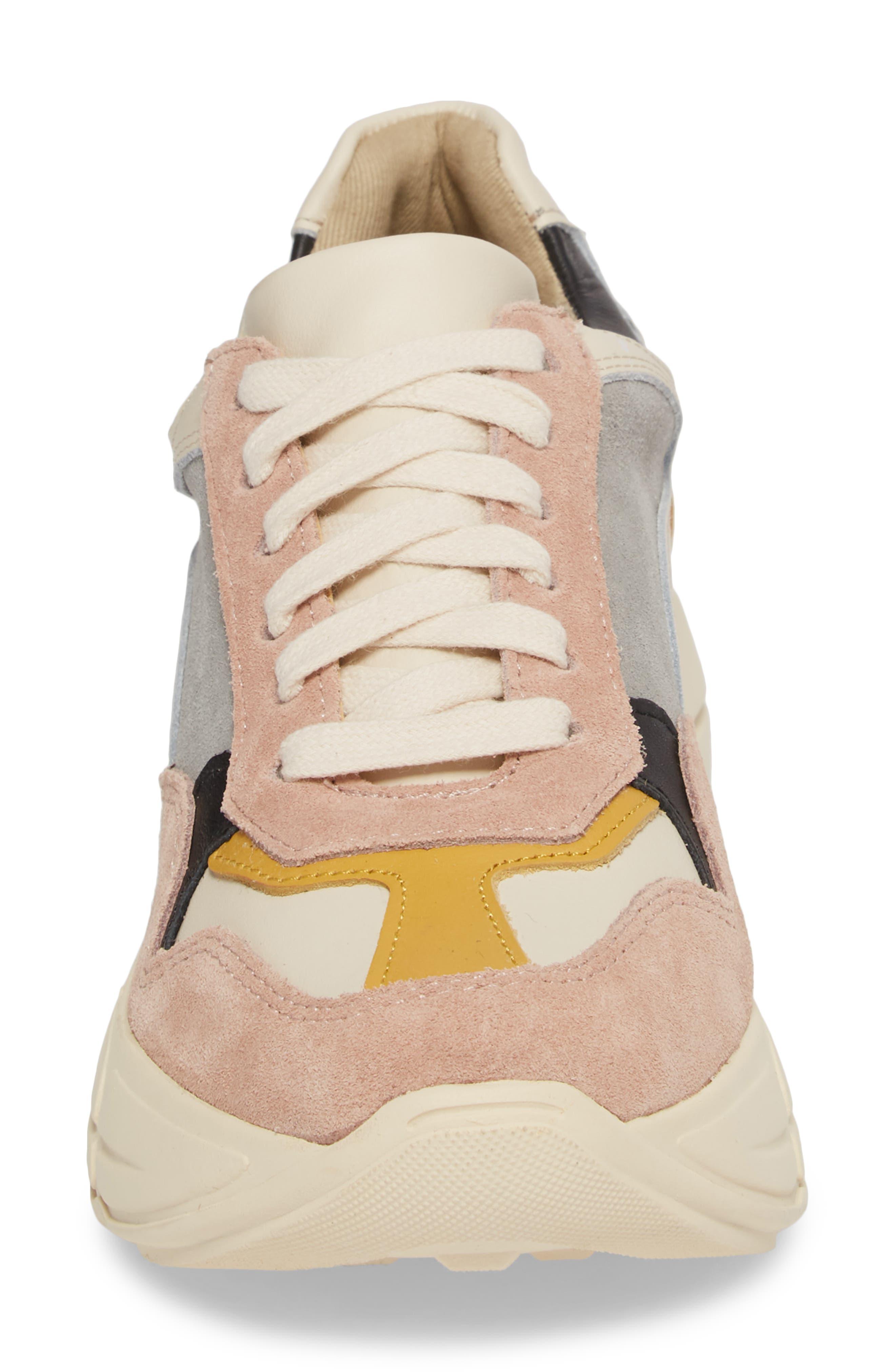 Memory Platform Wedge Sneaker,                             Alternate thumbnail 4, color,                             PINK MULTI