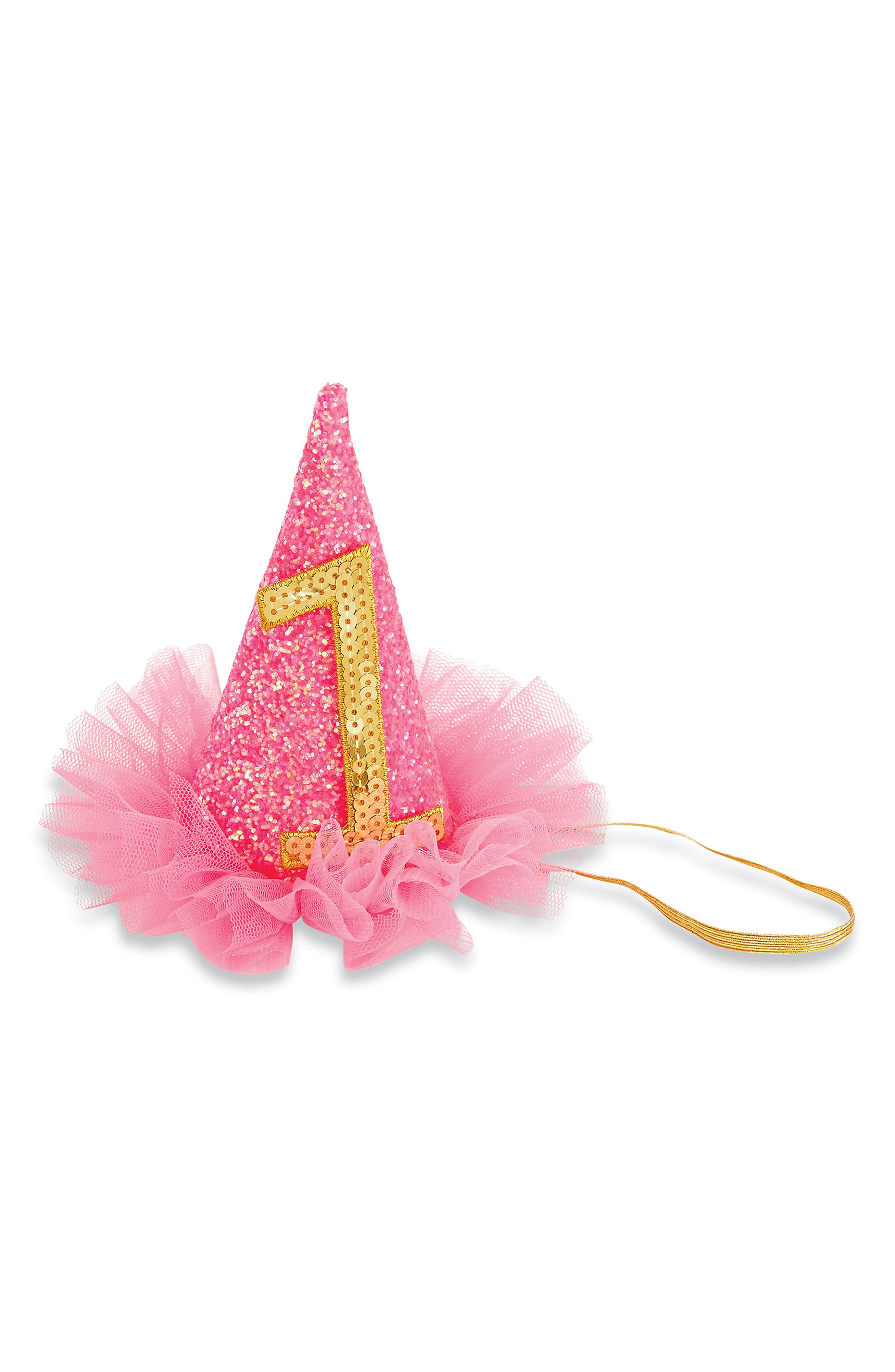 Birthday Glitter Party Hat,                             Main thumbnail 1, color,                             650