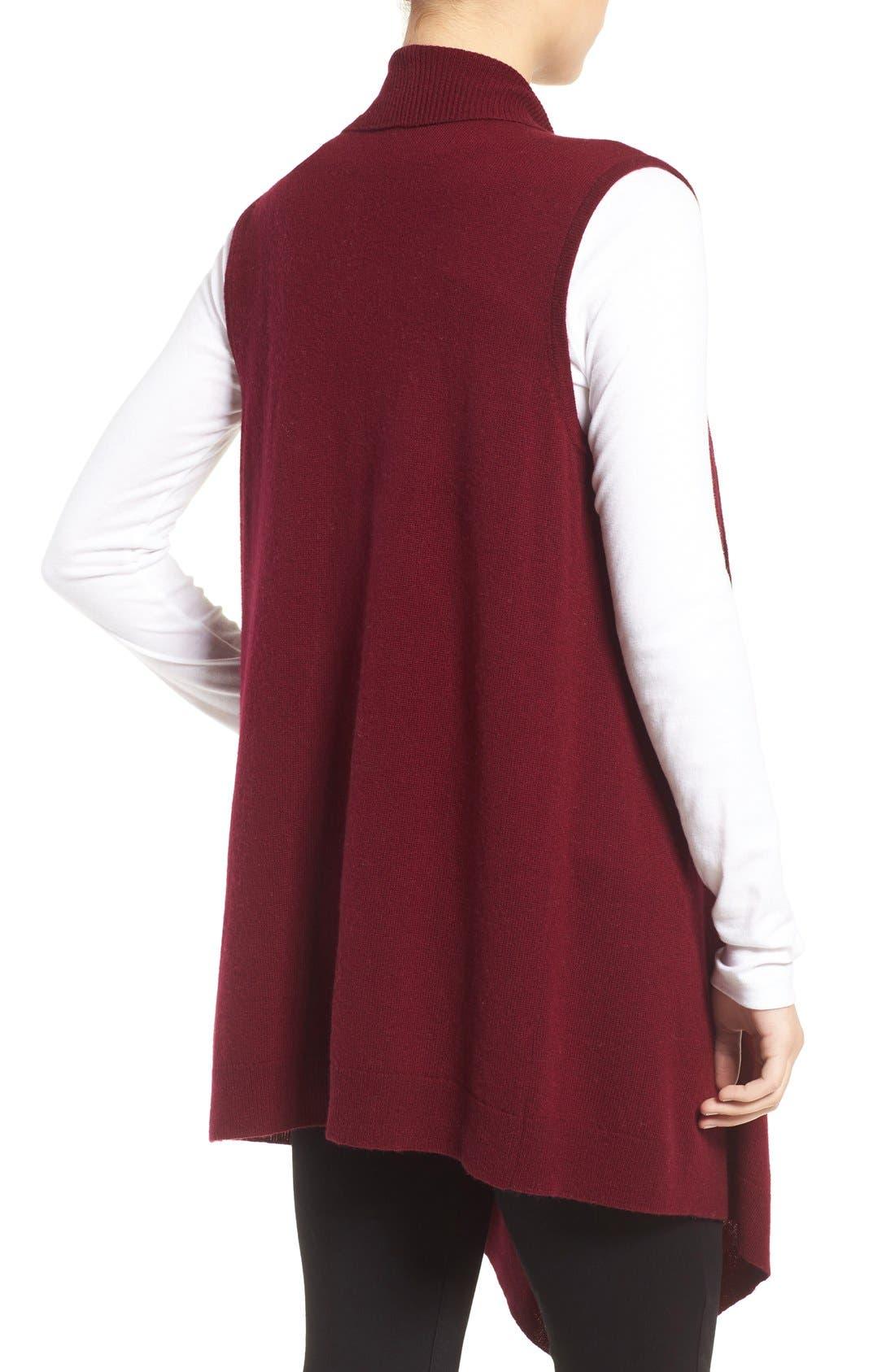 Wool & Cashmere Drape Front Sweater Vest,                             Alternate thumbnail 16, color,