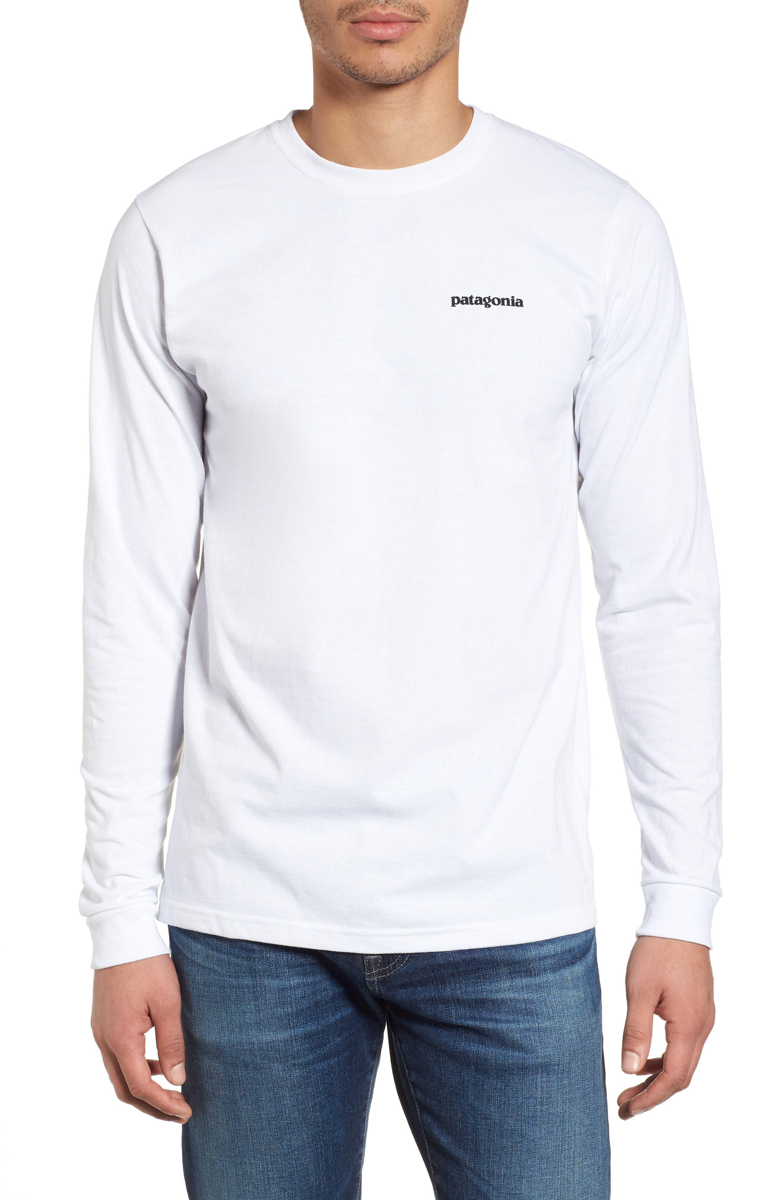 Patagonia Responsibili-Tee Long Sleeve T-Shirt, White