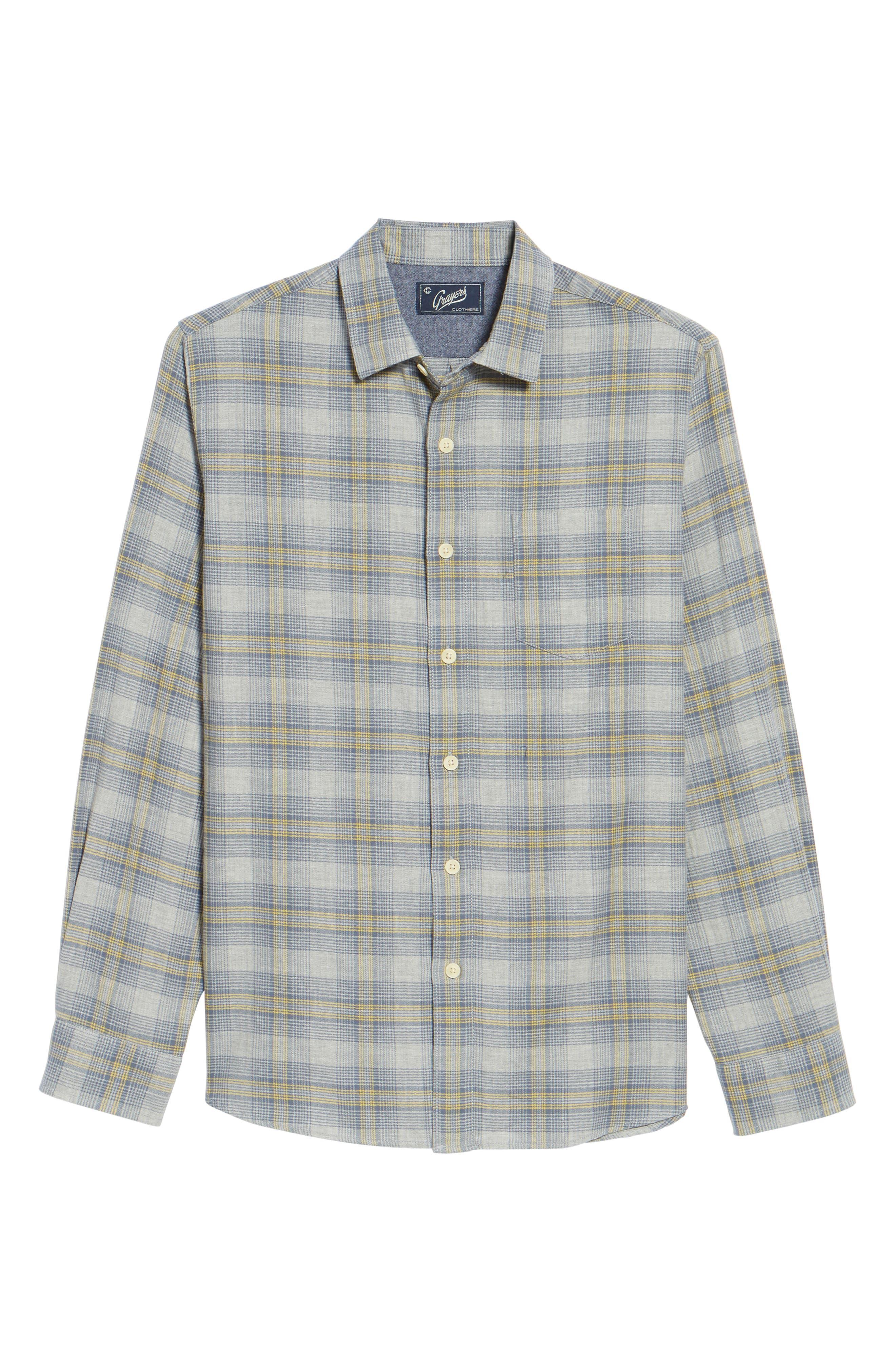 Laugna Herringbone Twill Shirt,                             Alternate thumbnail 6, color,                             032