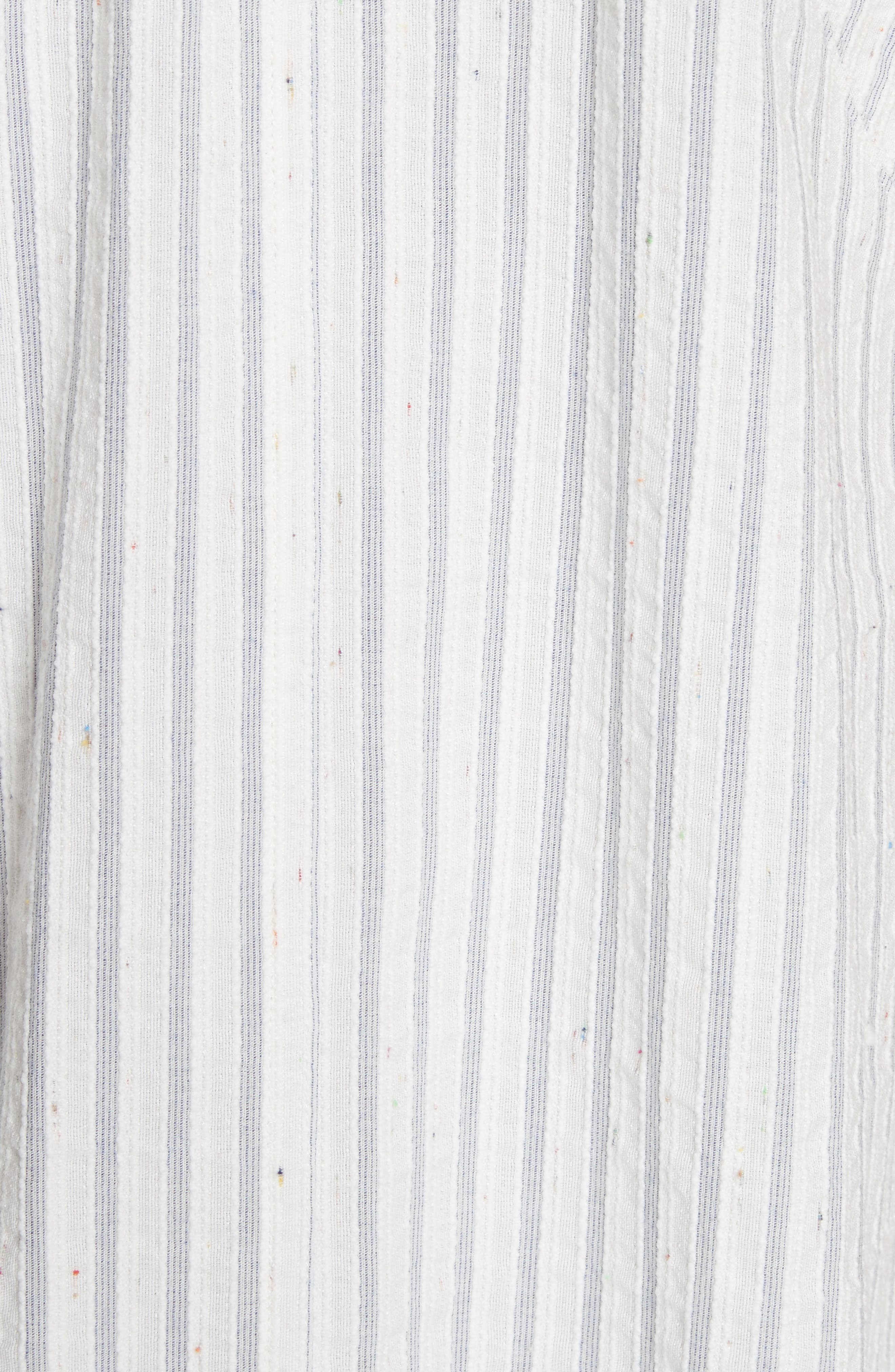 Sleeveless Stripe Tank Dress,                             Alternate thumbnail 5, color,                             421