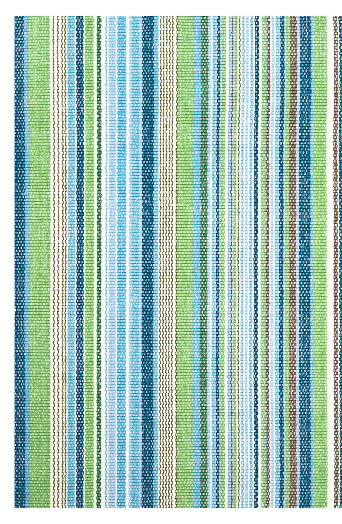 'Fisher Ticking' Stripe Rug,                             Main thumbnail 1, color,                             GREEN/ MULTI