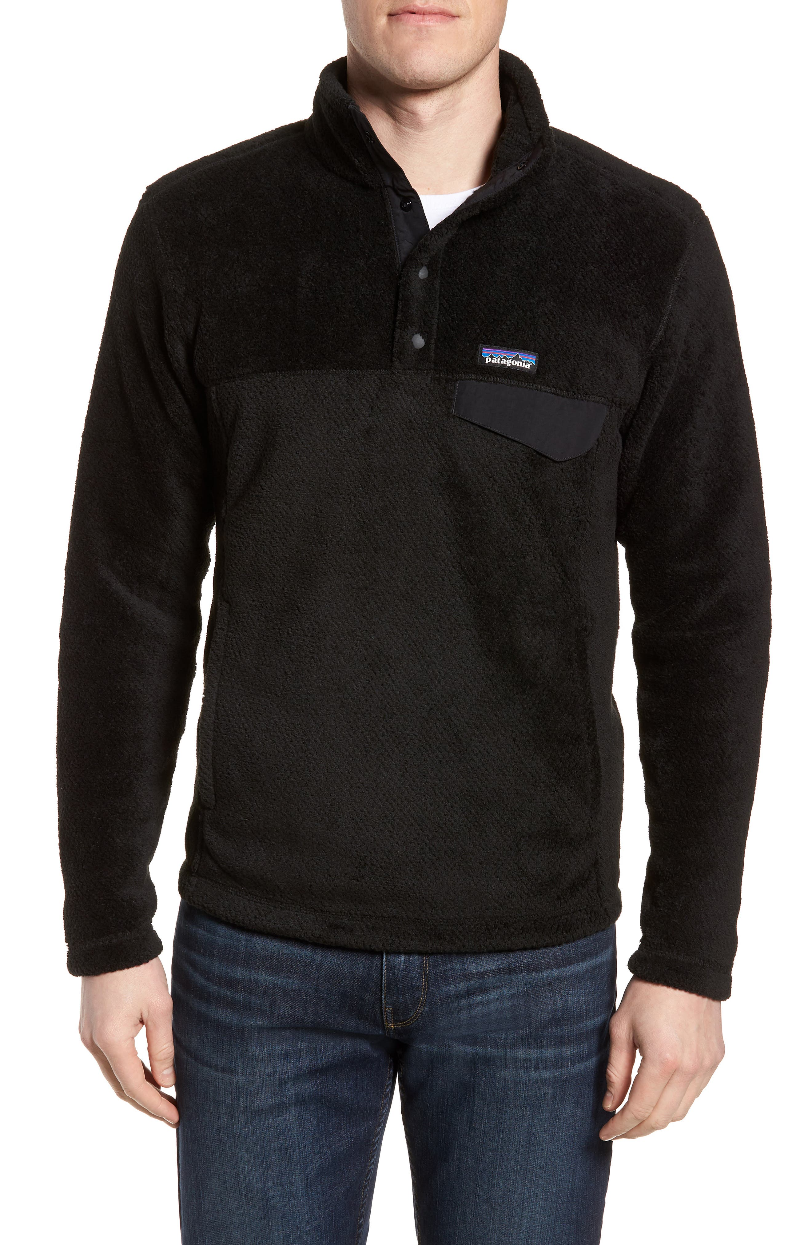 Re-Tool Snap-T<sup>®</sup> Pullover,                         Main,                         color, BLACK