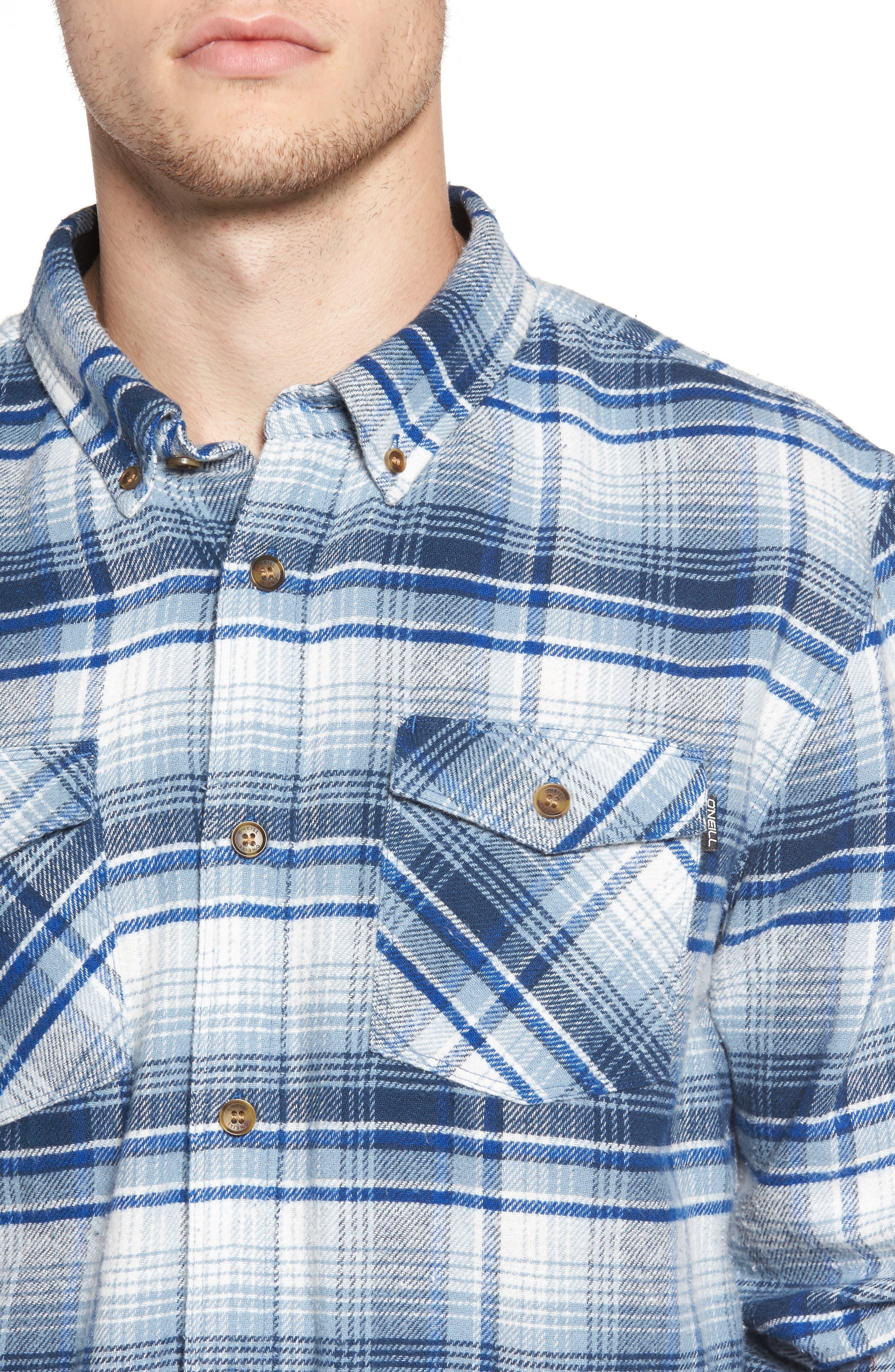 Butler Plaid Flannel Sport Shirt,                             Alternate thumbnail 11, color,