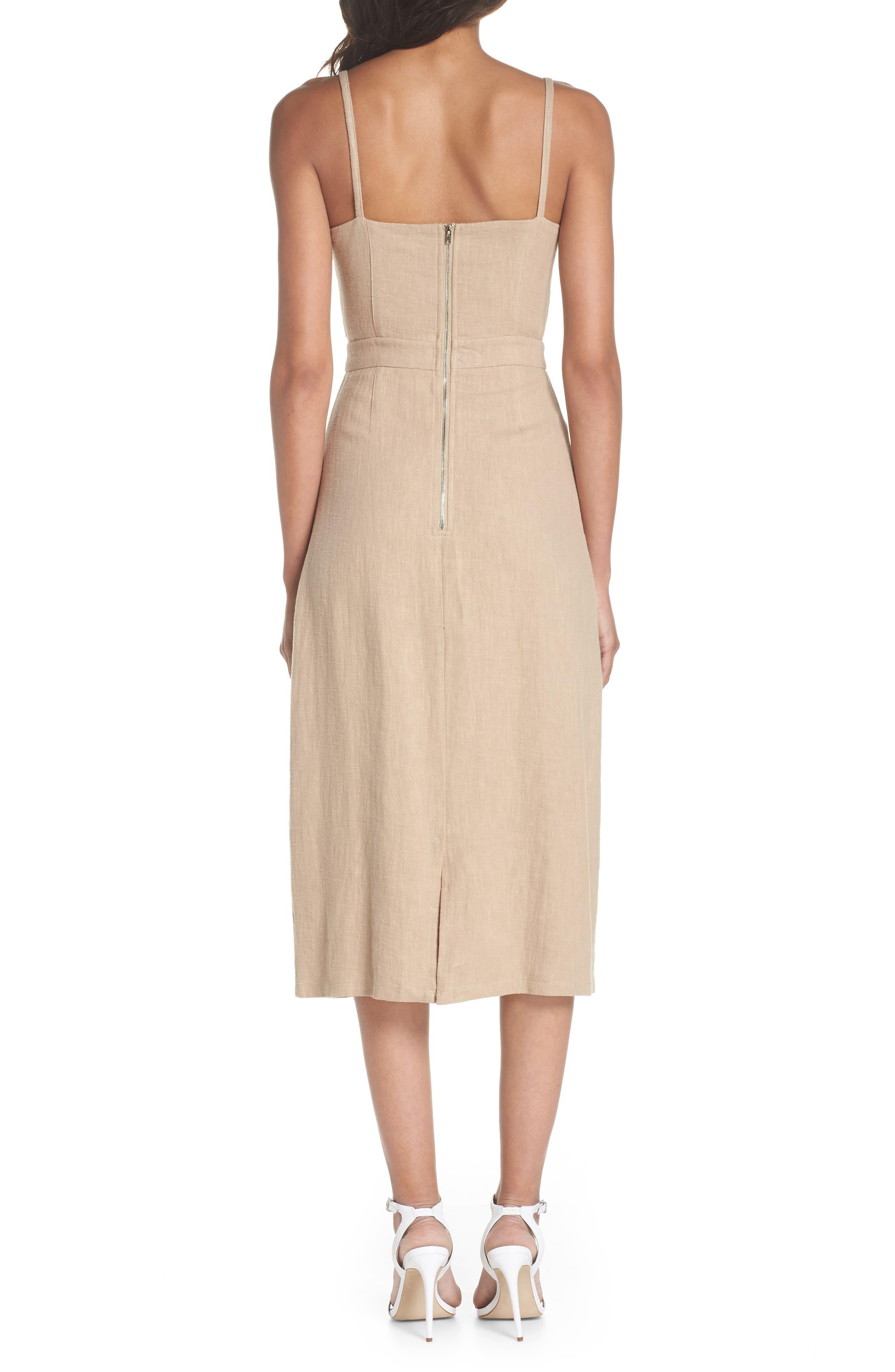 CAARA,                             Tie Front Linen Blend Sundress,                             Alternate thumbnail 2, color,                             250