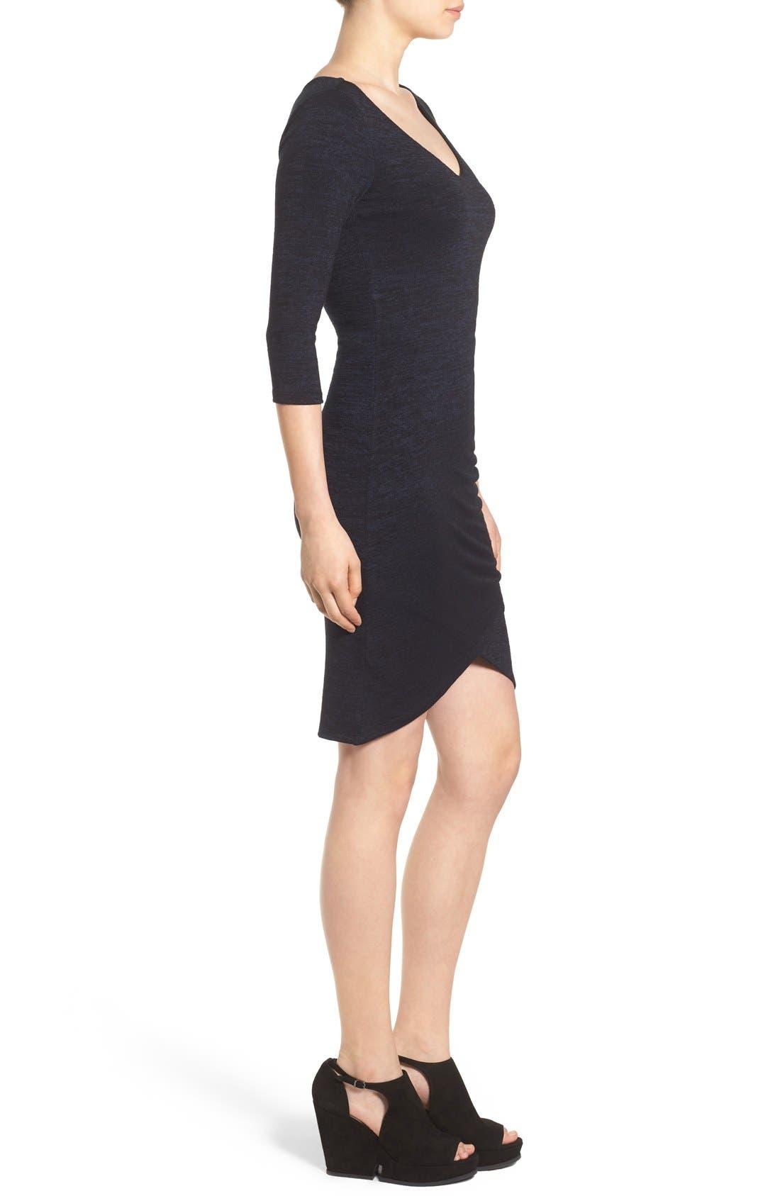 V-Neck Ruched Dress,                             Alternate thumbnail 6, color,