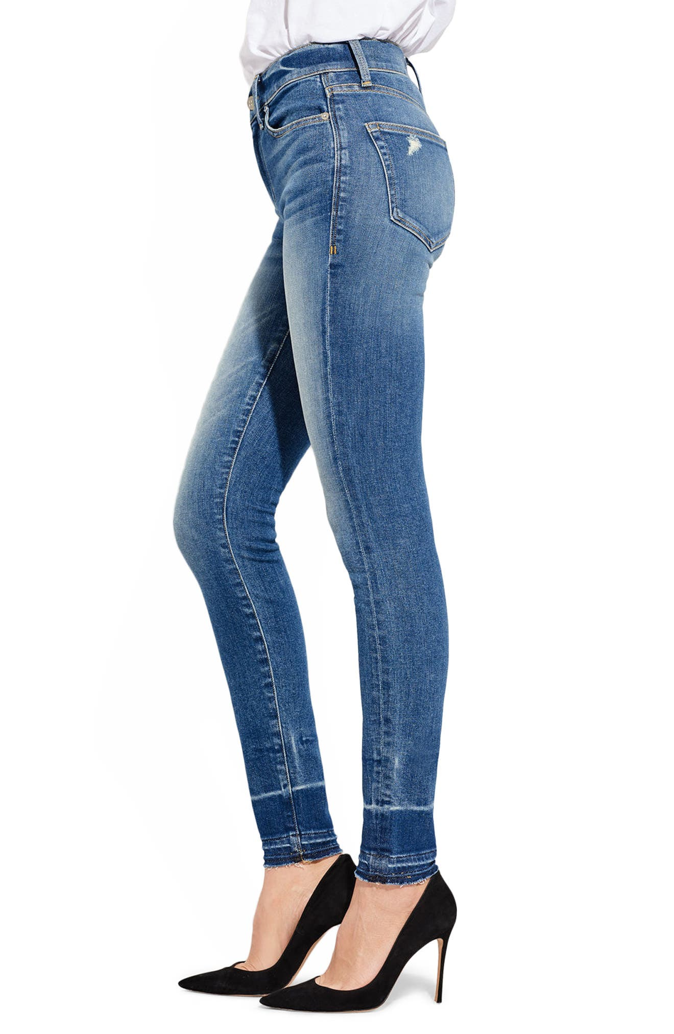 The Chiller High Waist Skinny Jeans,                             Alternate thumbnail 3, color,                             400