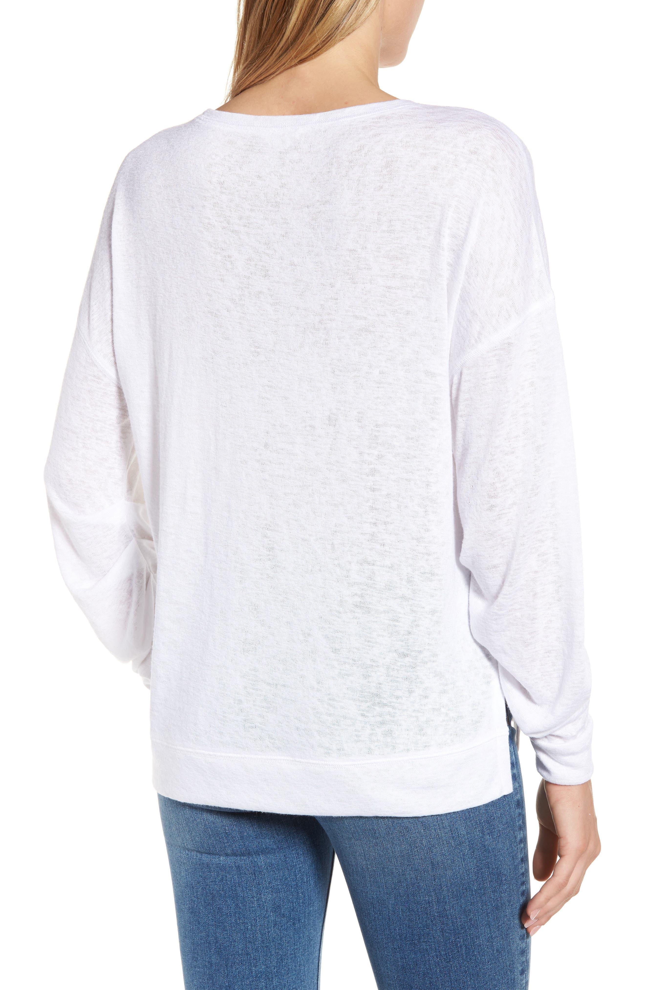 Tuck Sleeve Sweatshirt,                             Alternate thumbnail 10, color,
