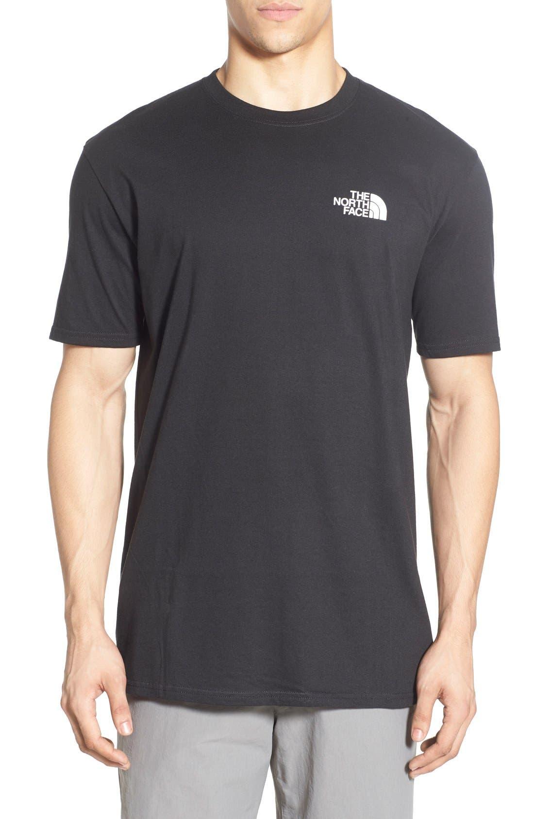 'Red Box' Graphic T-Shirt,                             Main thumbnail 1, color,                             TNF BLACK/ TNF WHITE