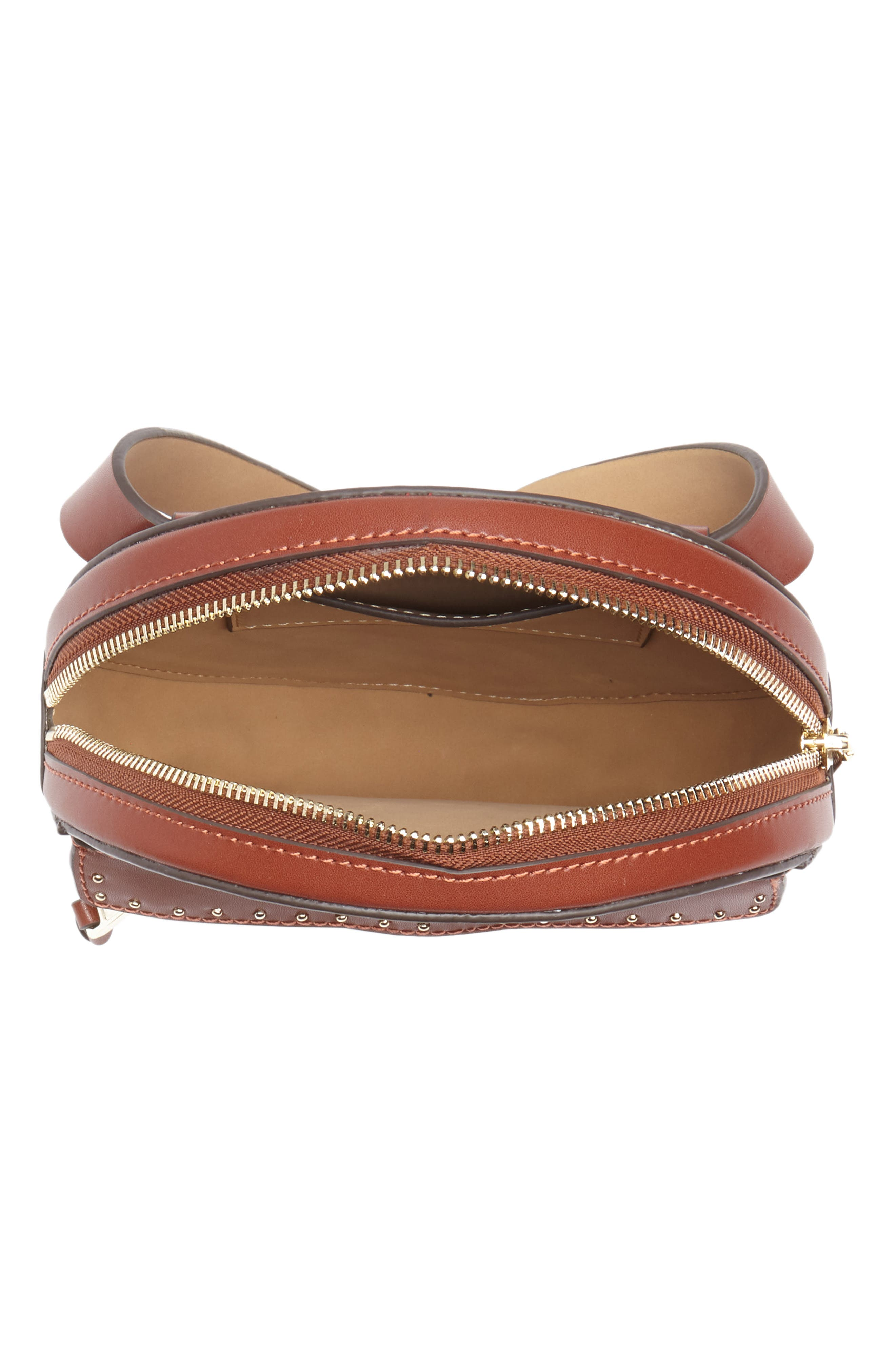 Lucy Leather Belt Bag,                             Alternate thumbnail 4, color,                             LUGGAGE