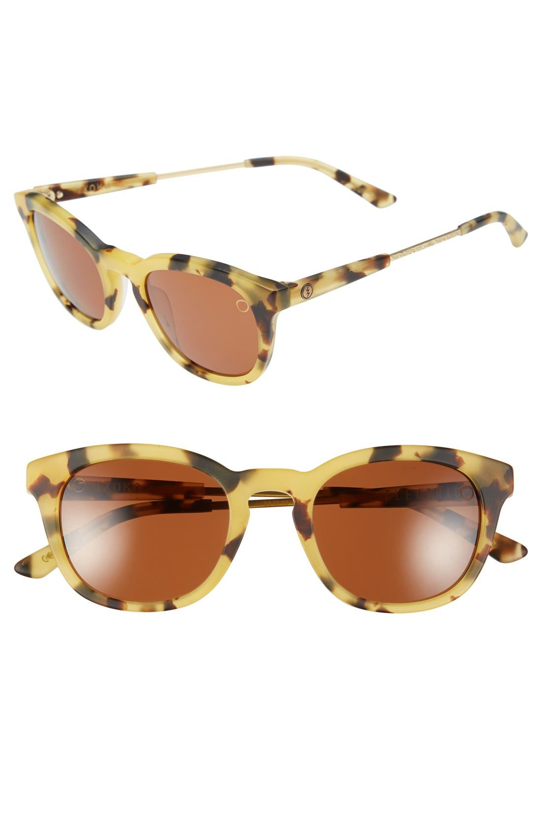 'Txoko' 50mm Sunglasses,                         Main,                         color, MATTE SPOTTED TORTOISE/ BRONZE