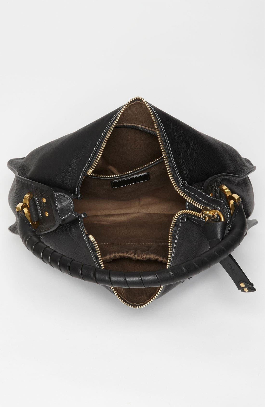 'Marcie - Medium' Leather Hobo,                             Alternate thumbnail 4, color,                             001