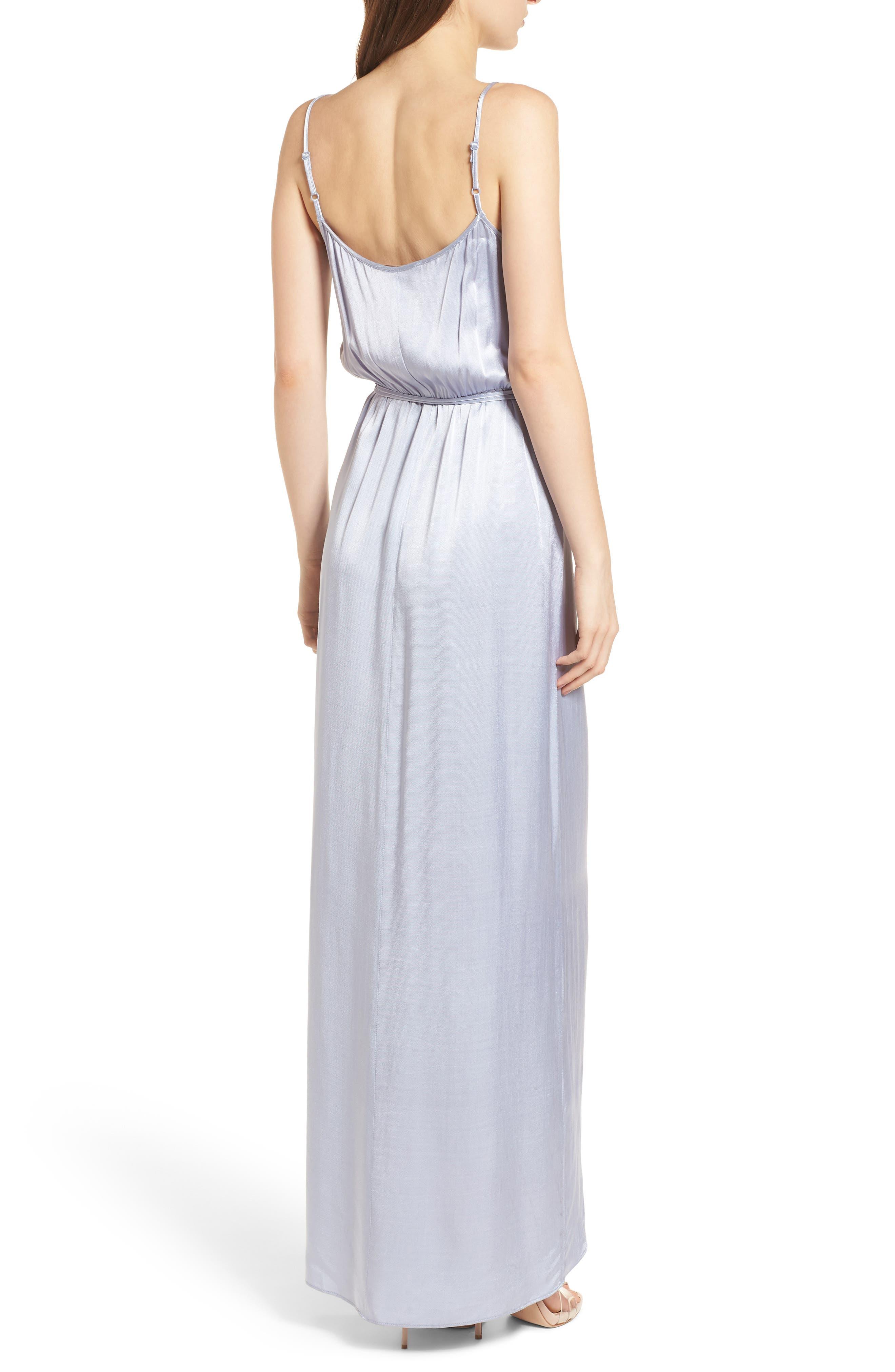 Teagan Satin Wrap Maxi Dress,                             Alternate thumbnail 2, color,                             400