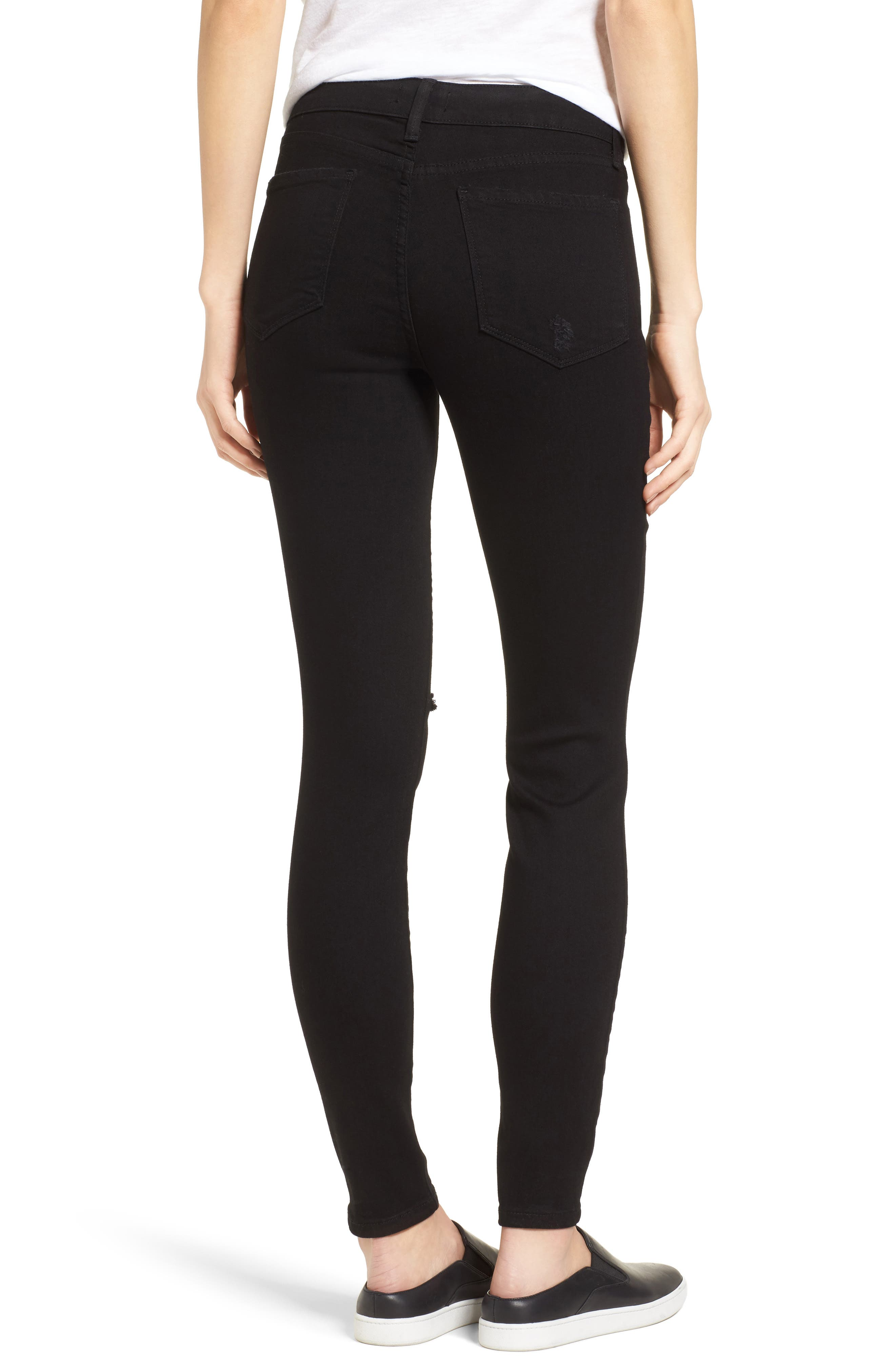 Ami Slash Knee Stretch Skinny Jeans,                             Alternate thumbnail 2, color,                             008