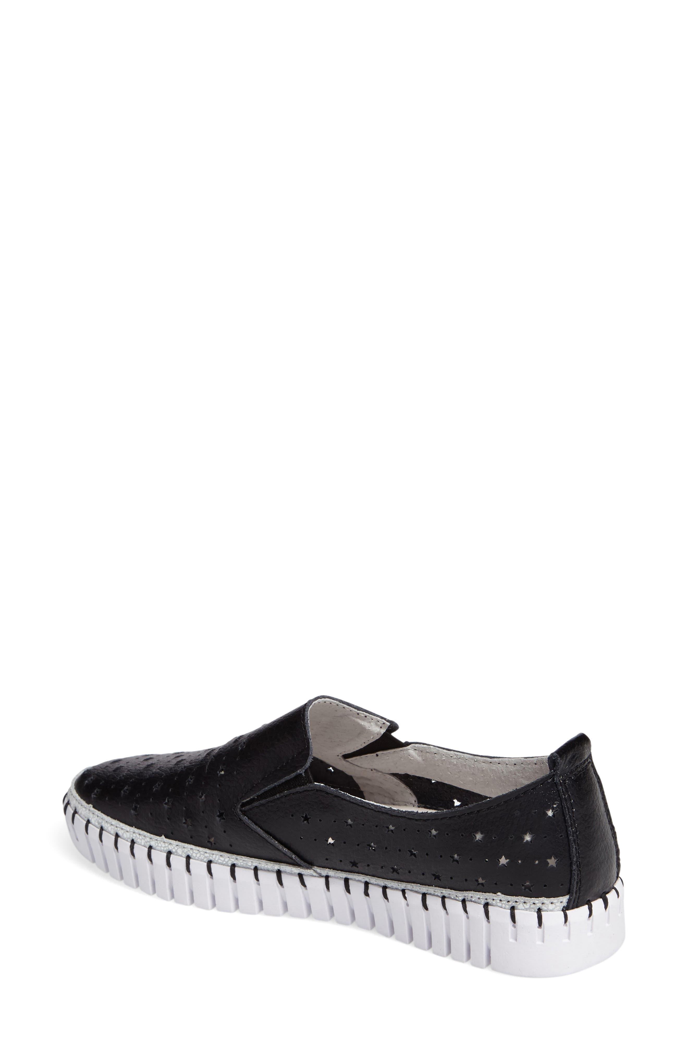 TW40 Slip-On Sneaker,                             Alternate thumbnail 2, color,                             BLACK LEATHER