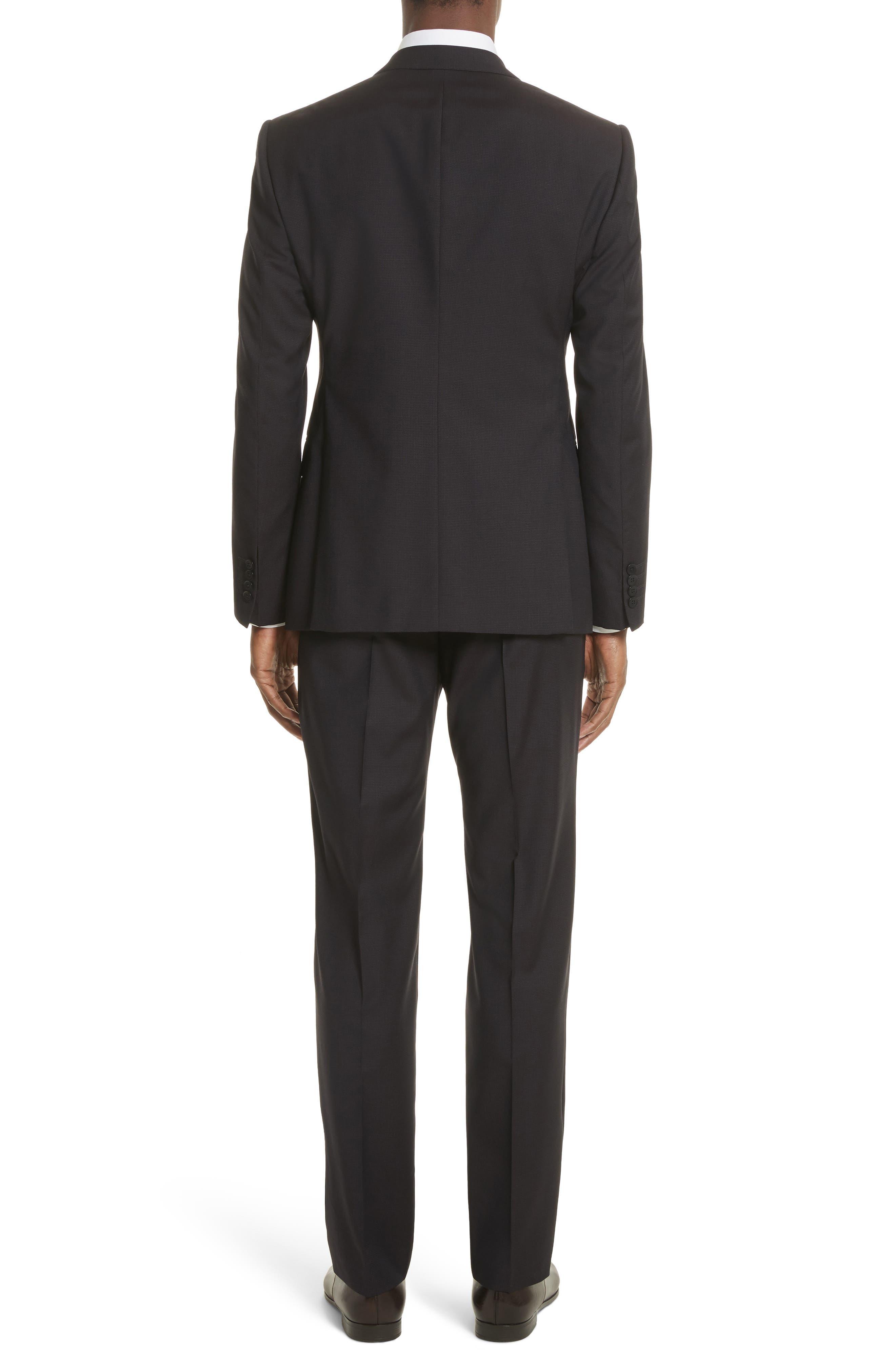 Emporio Armani M-Line Trim Fit Solid Wool Suit,                             Alternate thumbnail 2, color,                             604