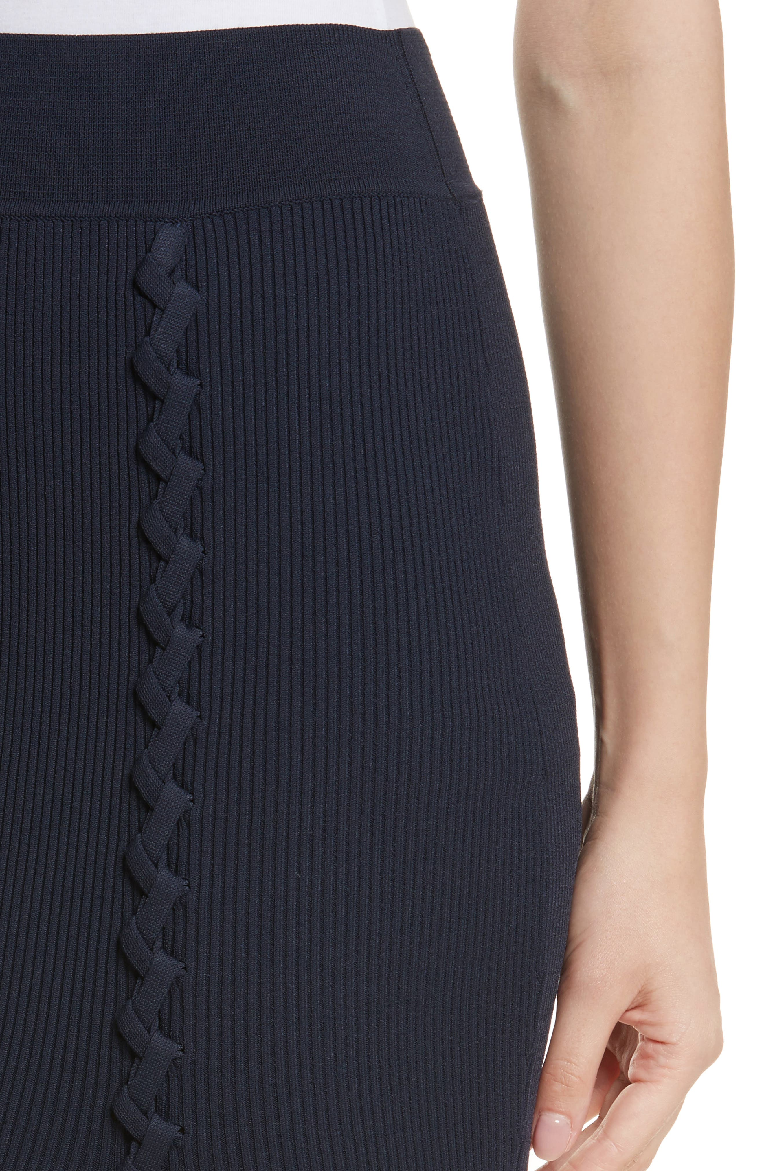 Criss Cross Pencil Skirt,                             Alternate thumbnail 4, color,                             412