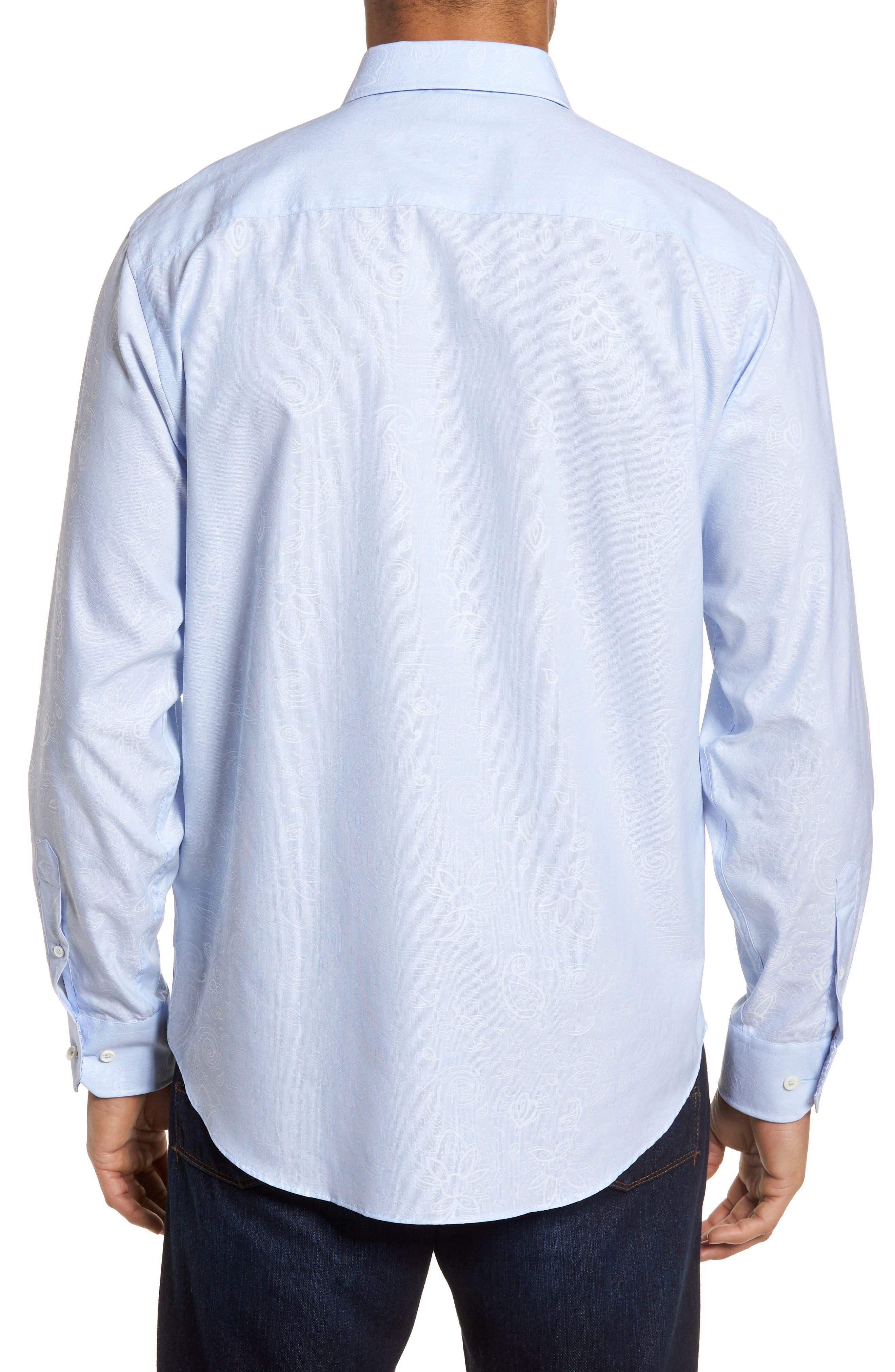 Classic Fit Woven Sport Shirt,                             Alternate thumbnail 2, color,                             423