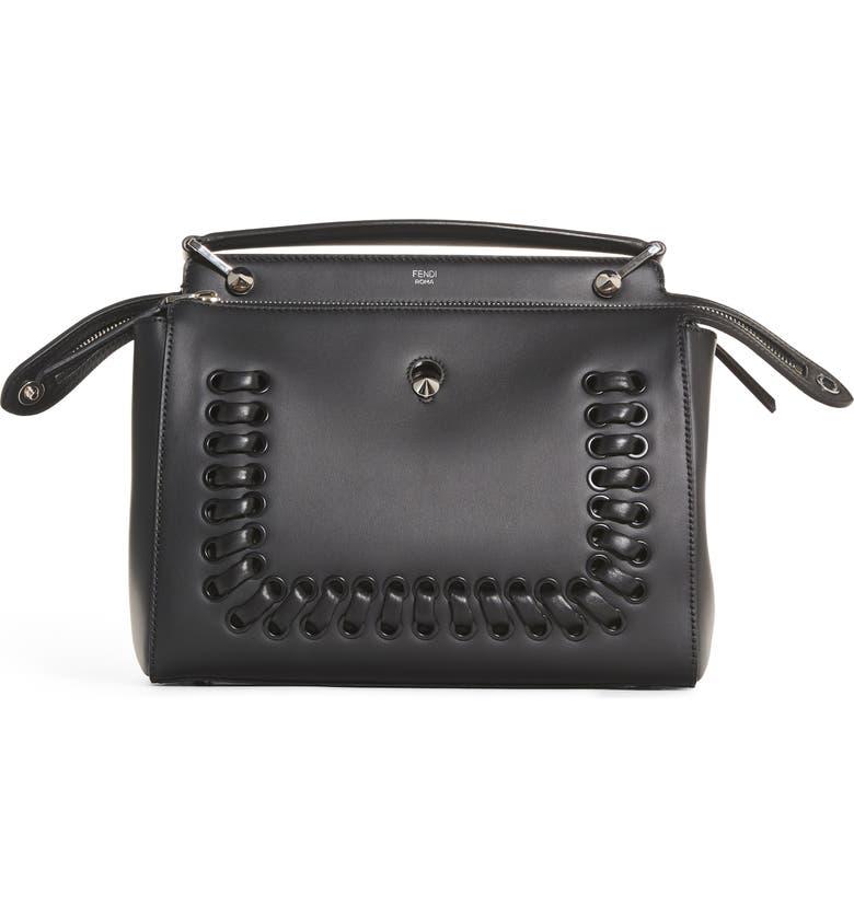 c620280b2185 Fendi  DOTCOM  Lace-Up Leather Satchel