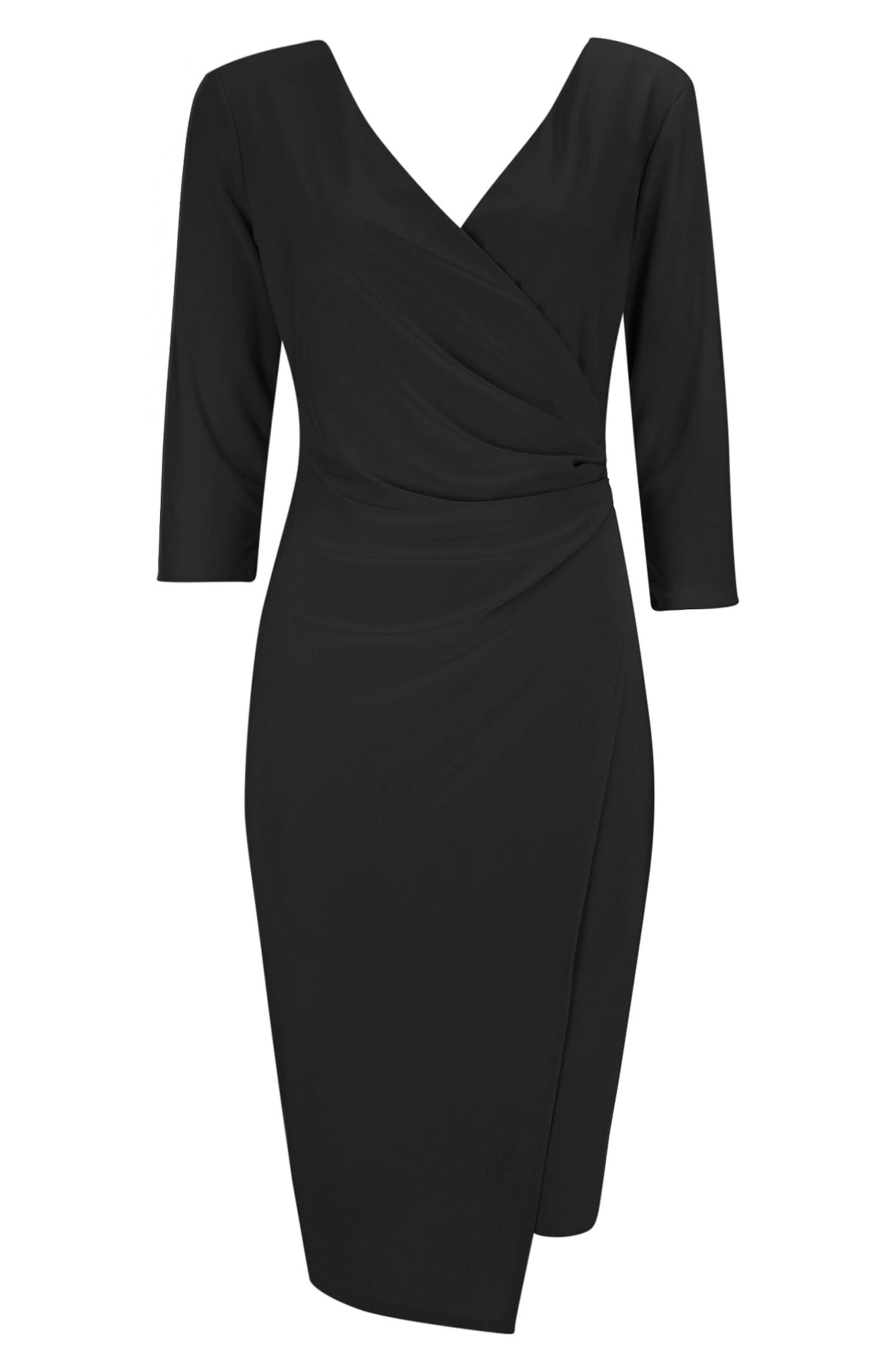 Ity Wrap Dress,                             Alternate thumbnail 4, color,                             001