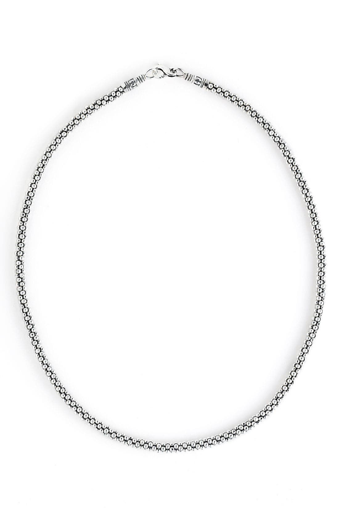 'Signature' Rope Necklace,                         Main,                         color, STERLING SILVER