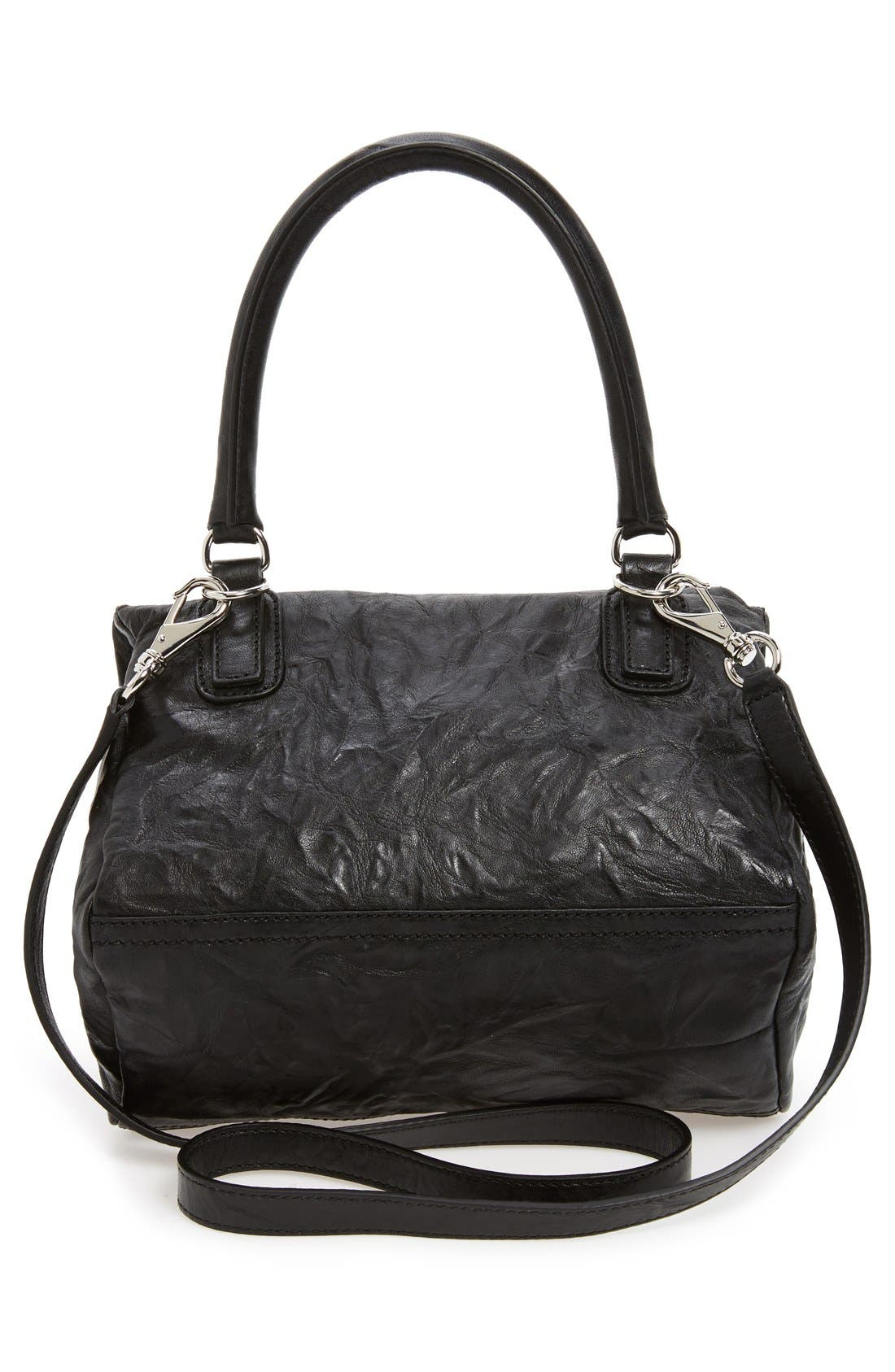 'Small Pepe Pandora' Leather Shoulder Bag,                             Alternate thumbnail 5, color,                             BLACK