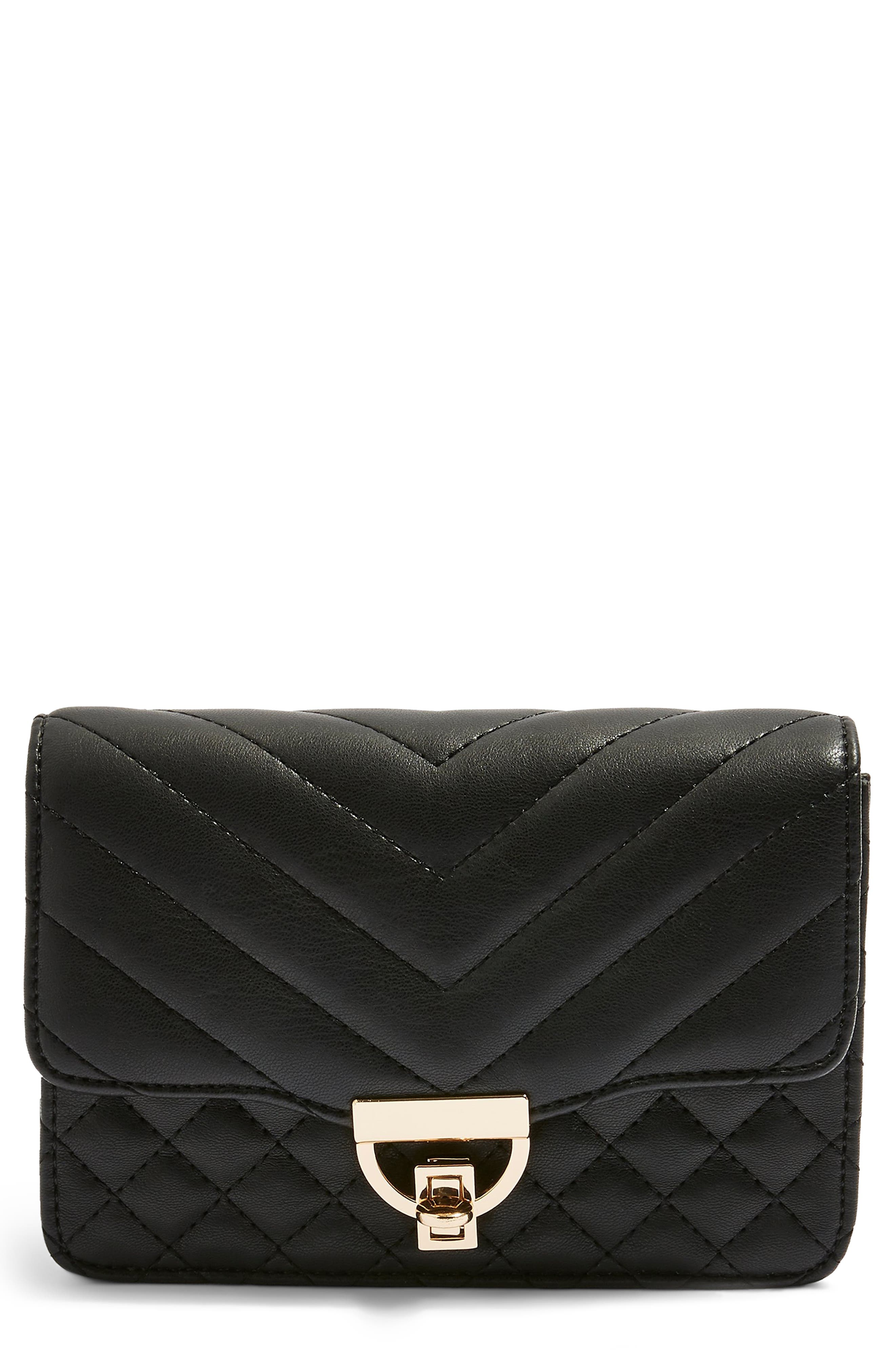 Prince Quilted Belt Bag,                         Main,                         color, BLACK