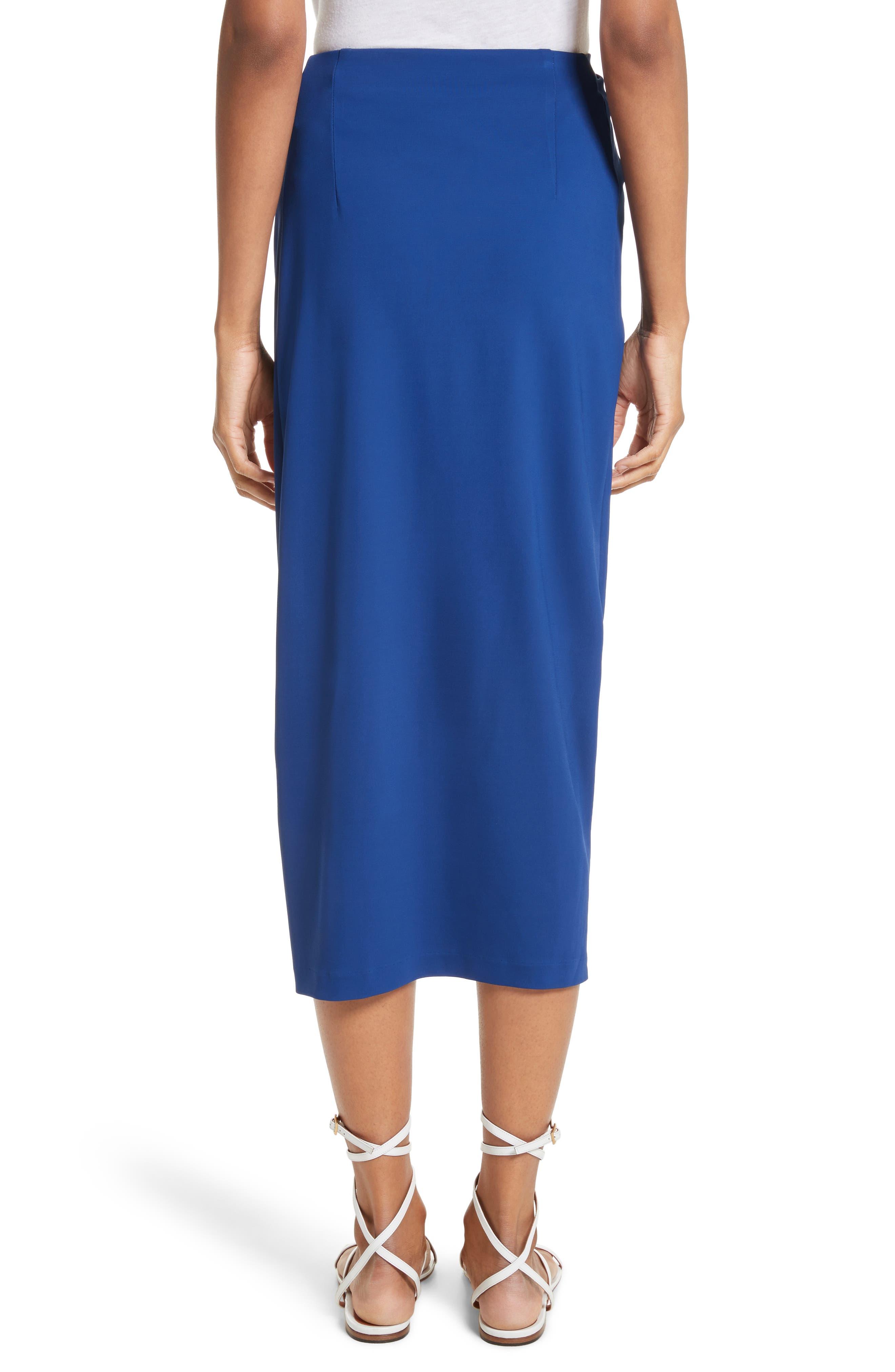 Jersey Twist Front Midi Skirt,                             Alternate thumbnail 2, color,