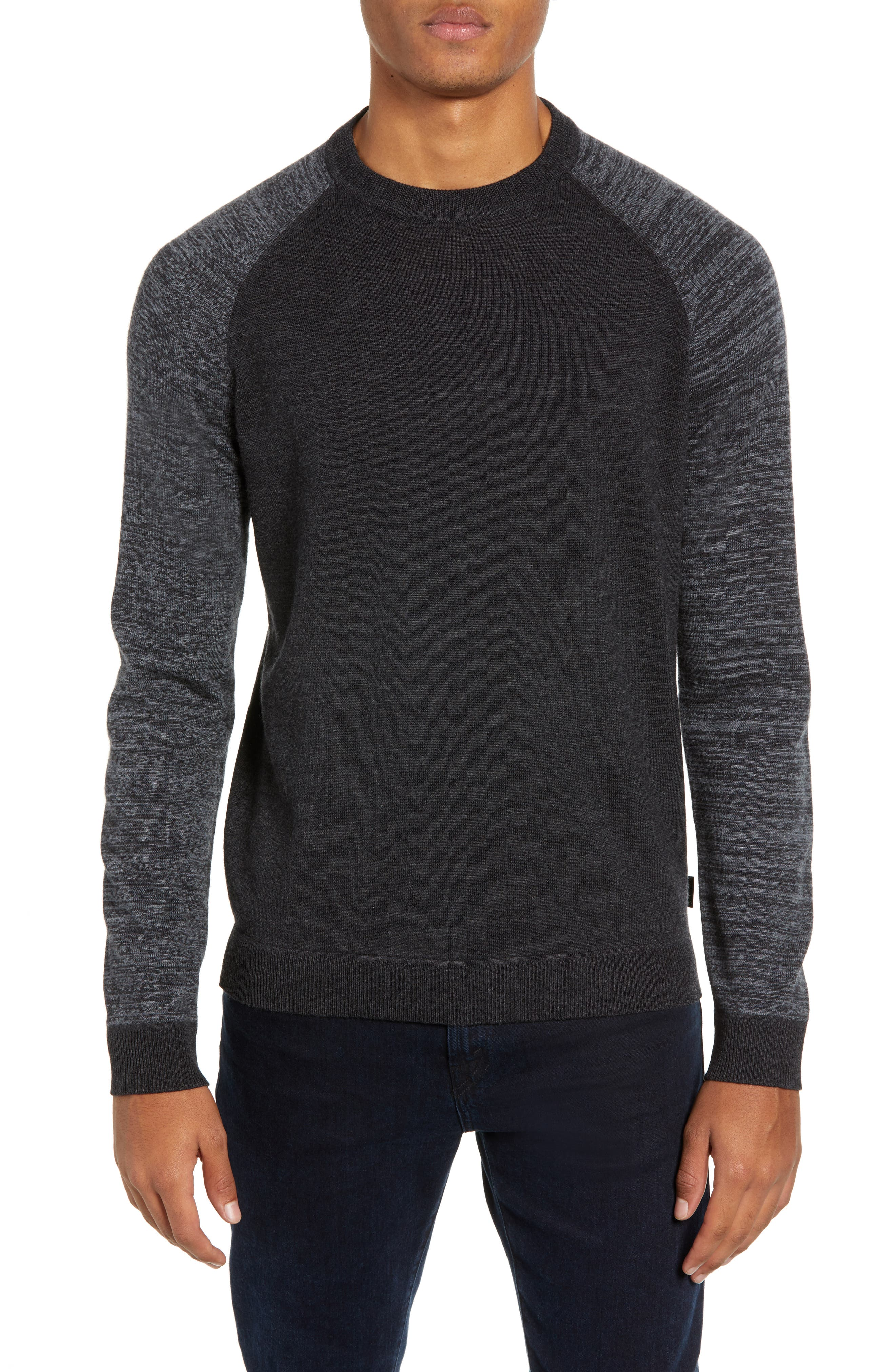 Cornfed Slim Fit Sweater,                         Main,                         color, CHARCOAL