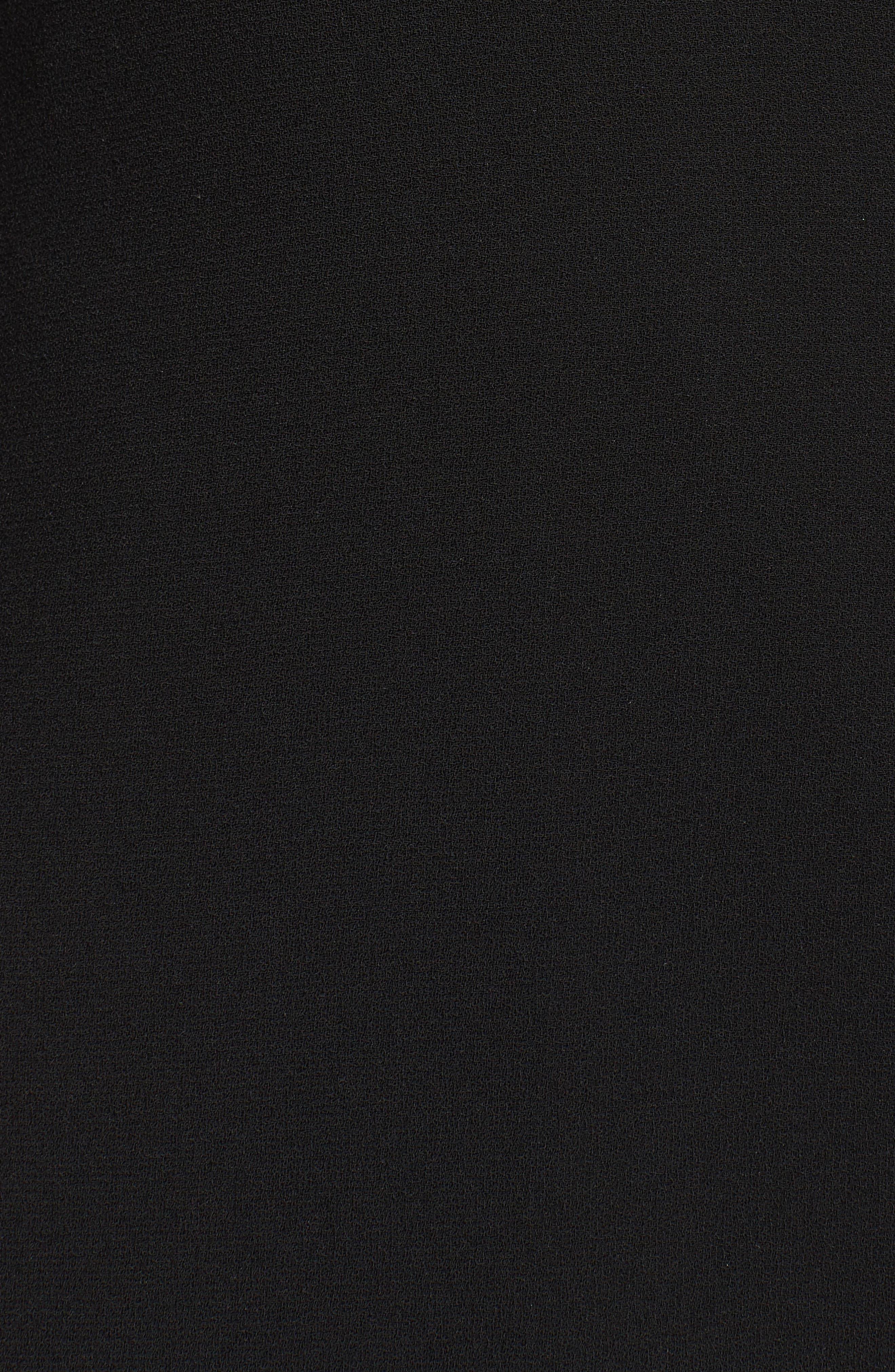 One-Shoulder Velvet Panel Gown,                             Alternate thumbnail 5, color,                             001