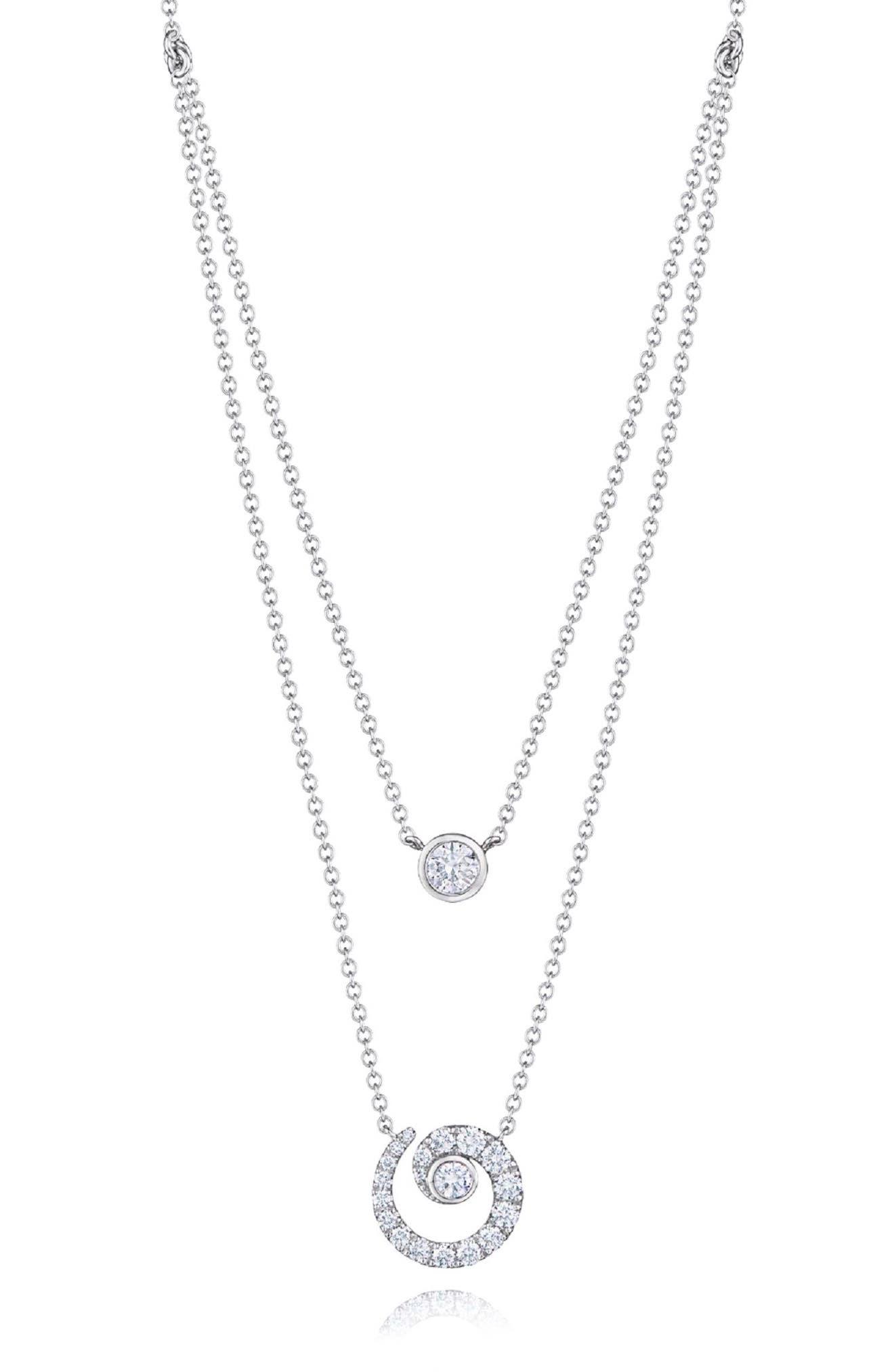 KWIAT Duet Diamond Necklace in White