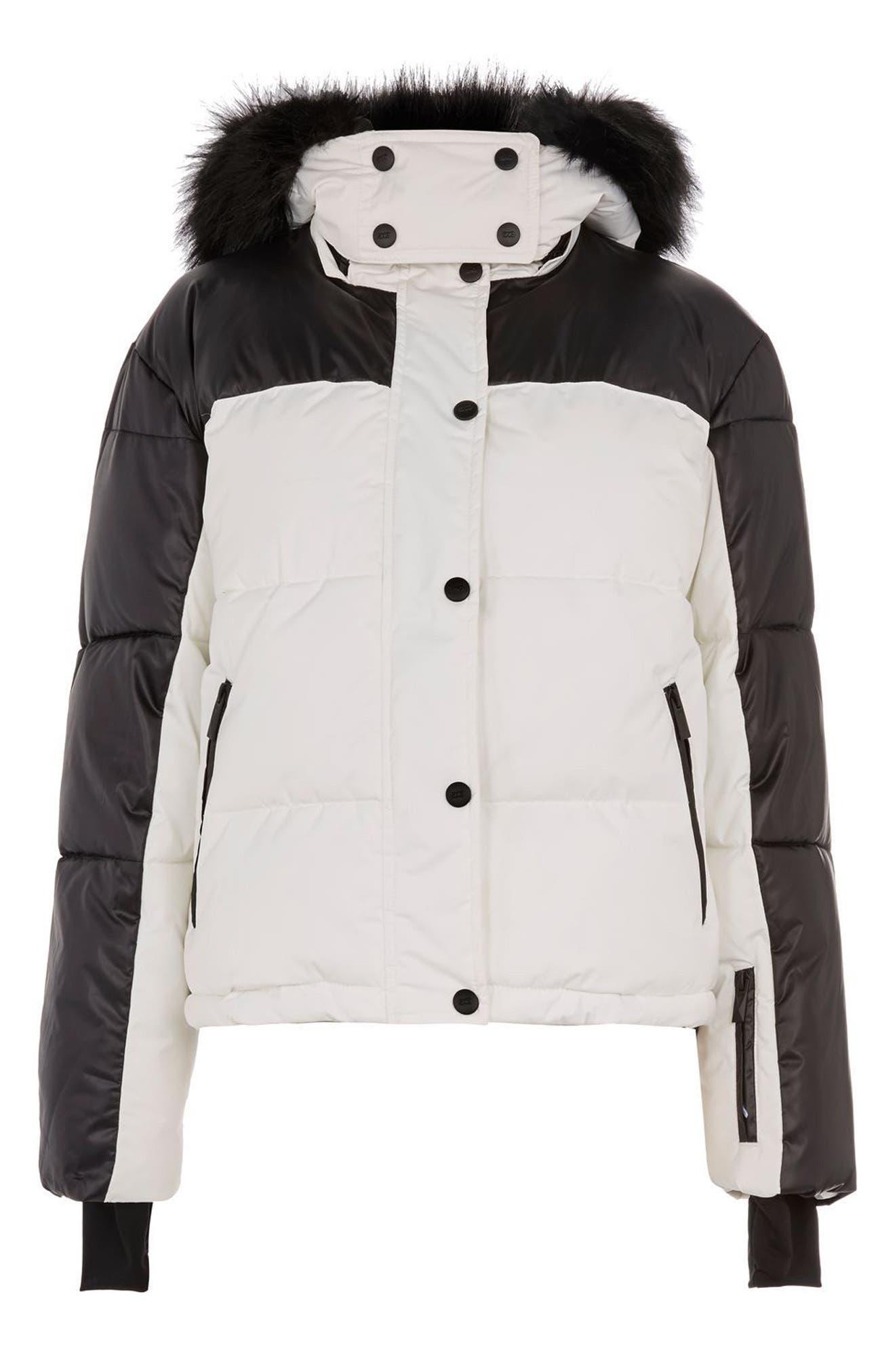 SNO Siren Ski Puffer Jacket,                             Alternate thumbnail 5, color,                             100