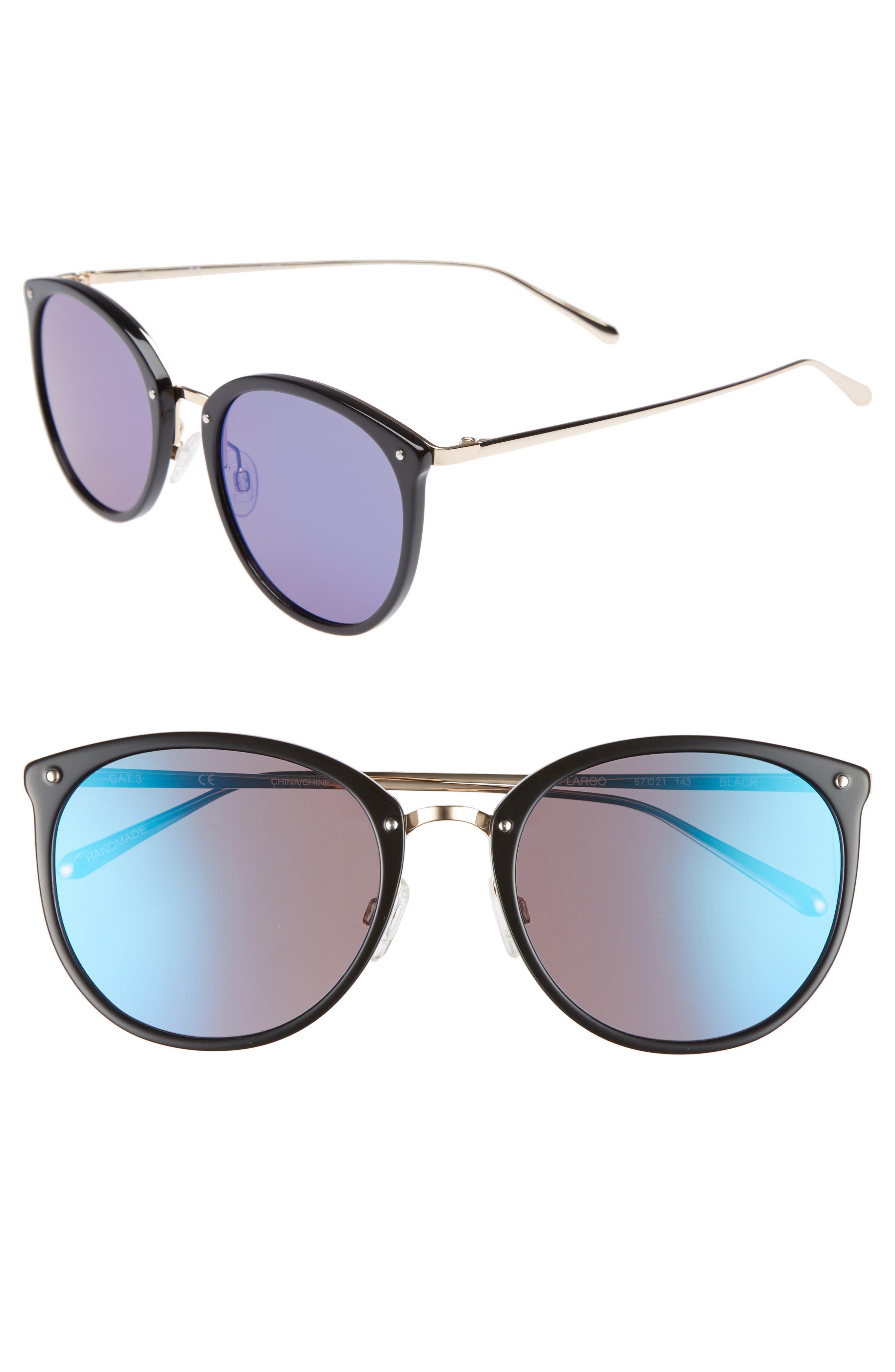 Key Largo 57mm Sunglasses,                             Main thumbnail 1, color,                             001