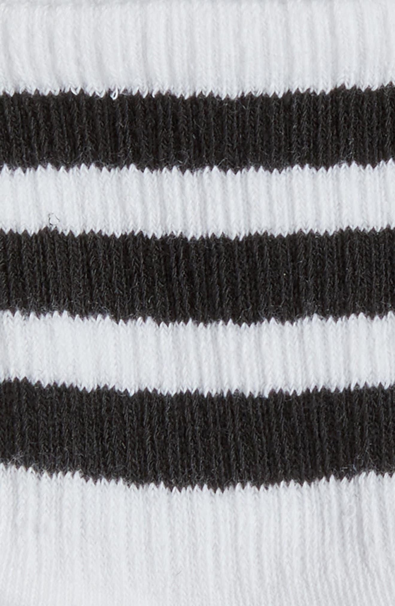 3-Pack 3-Stripe Ankle Socks,                             Alternate thumbnail 2, color,                             100