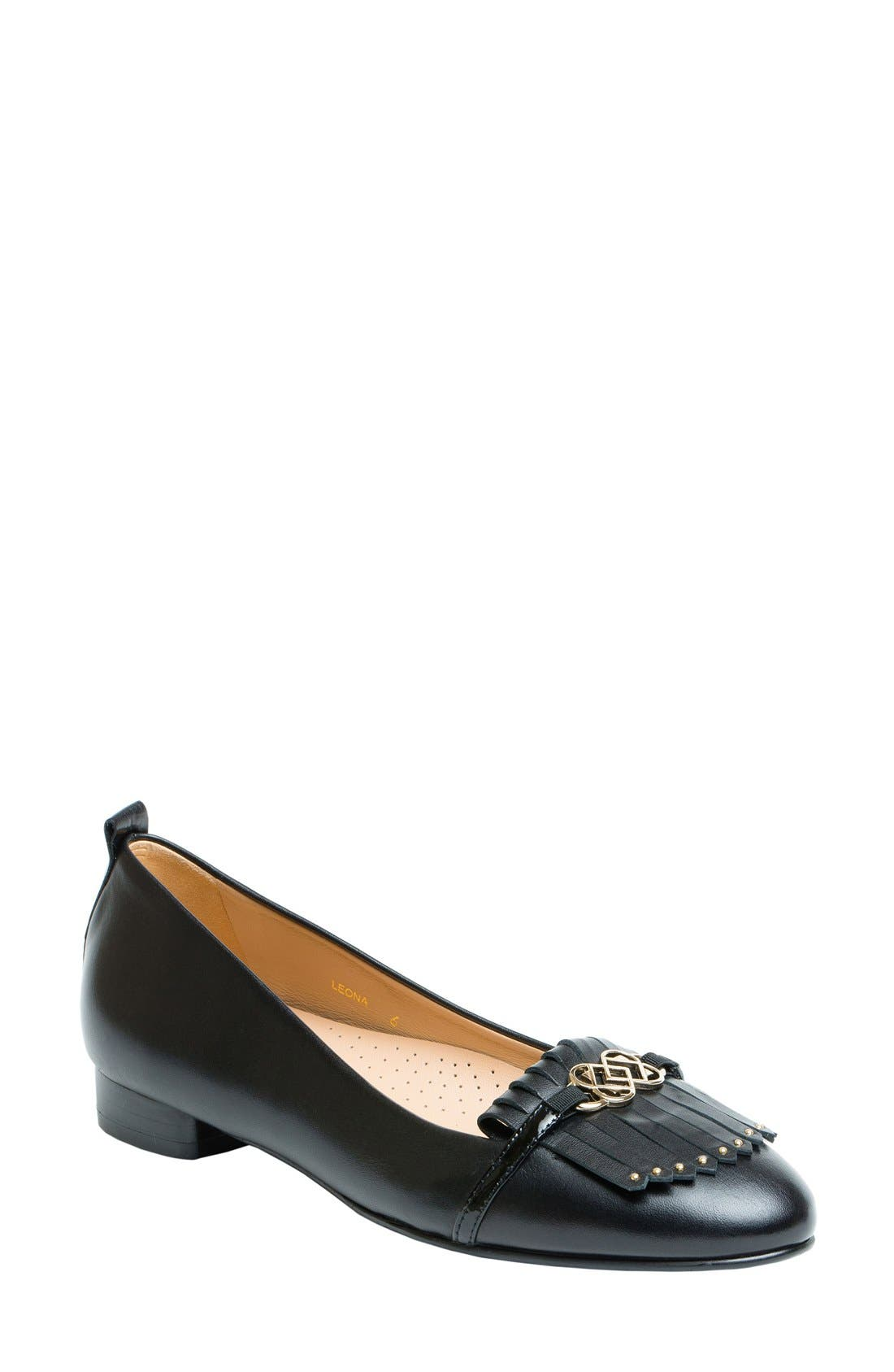 Leona Kiltie Loafer,                         Main,                         color, 001