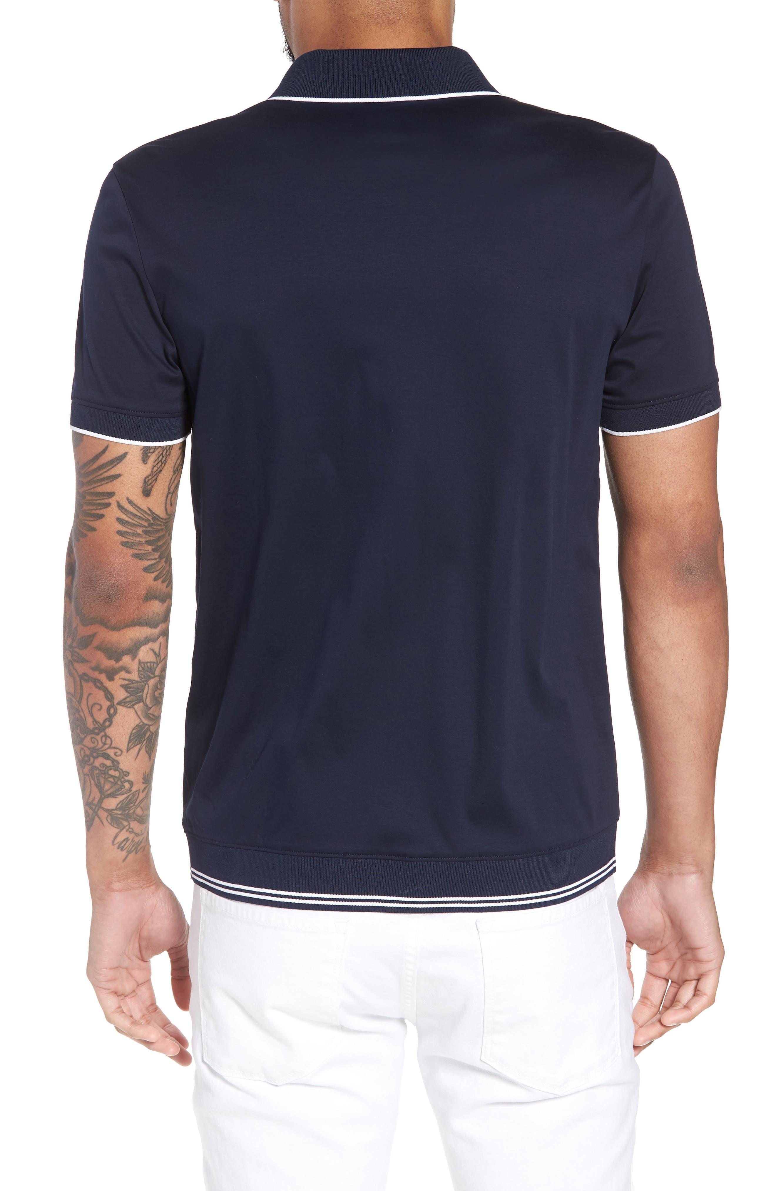 Puno Slim Fit Knit Short Sleeve Sport Shirt,                             Alternate thumbnail 2, color,                             410