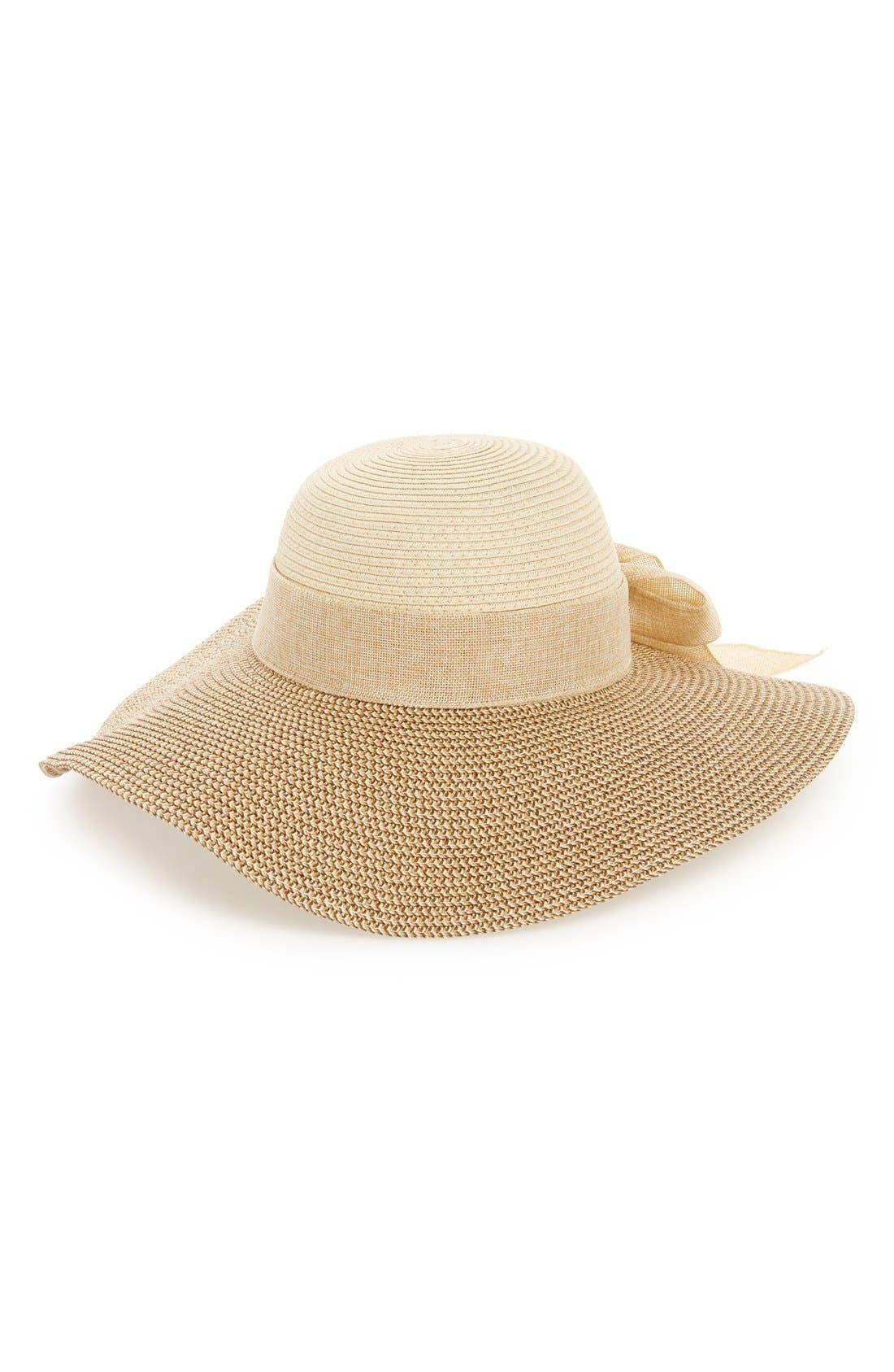Floppy Straw Hat,                             Alternate thumbnail 3, color,                             260