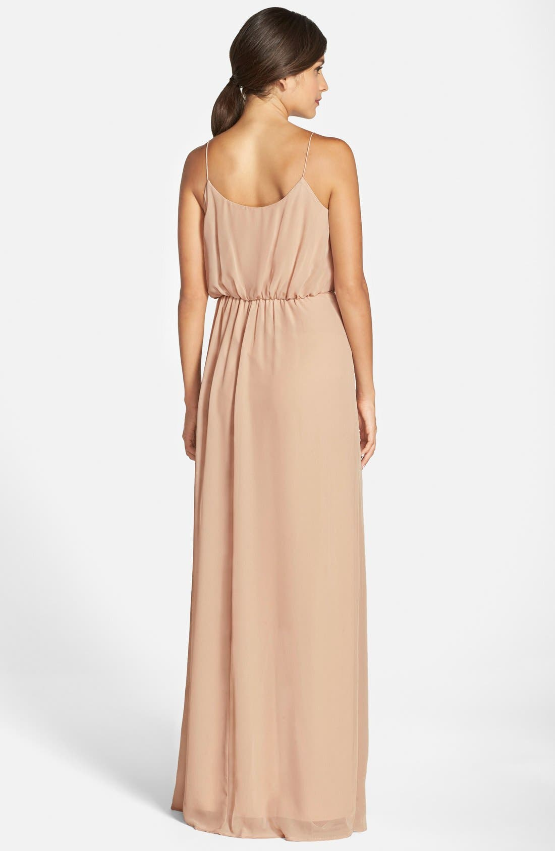 'Drew' Ruffle Front Chiffon Gown,                             Alternate thumbnail 66, color,