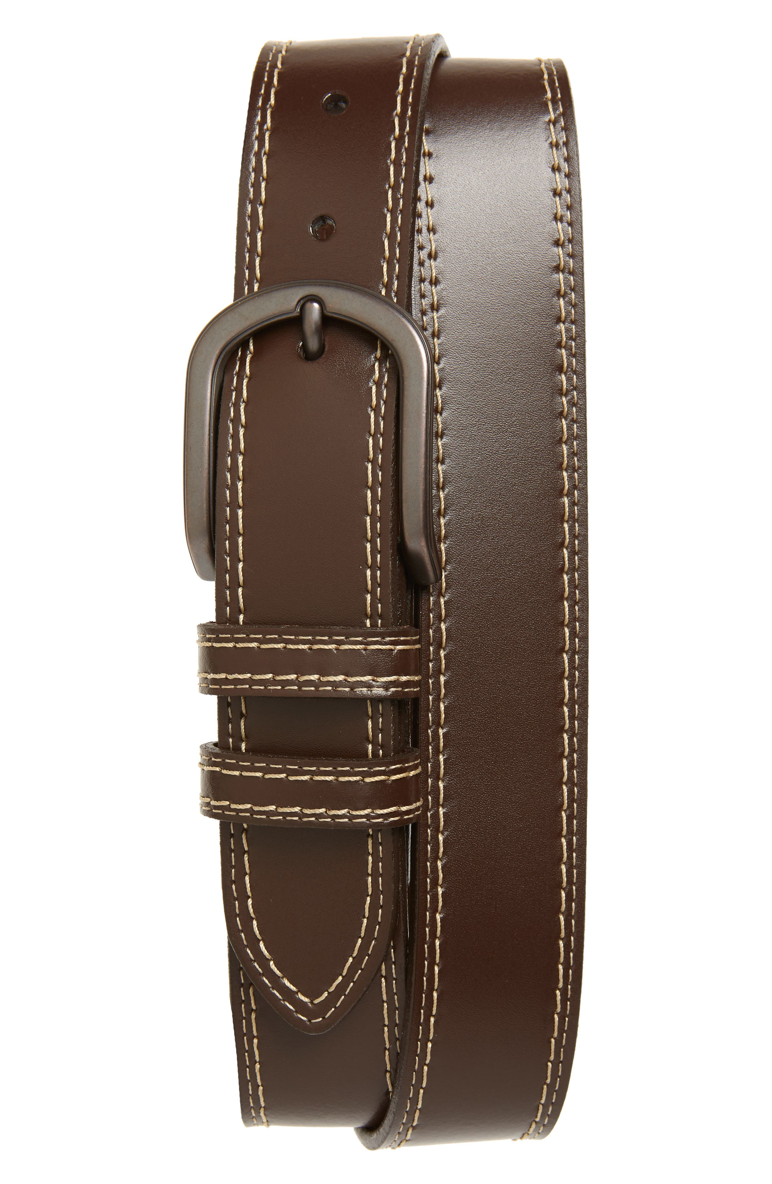 Torino Leather Belt, Brown