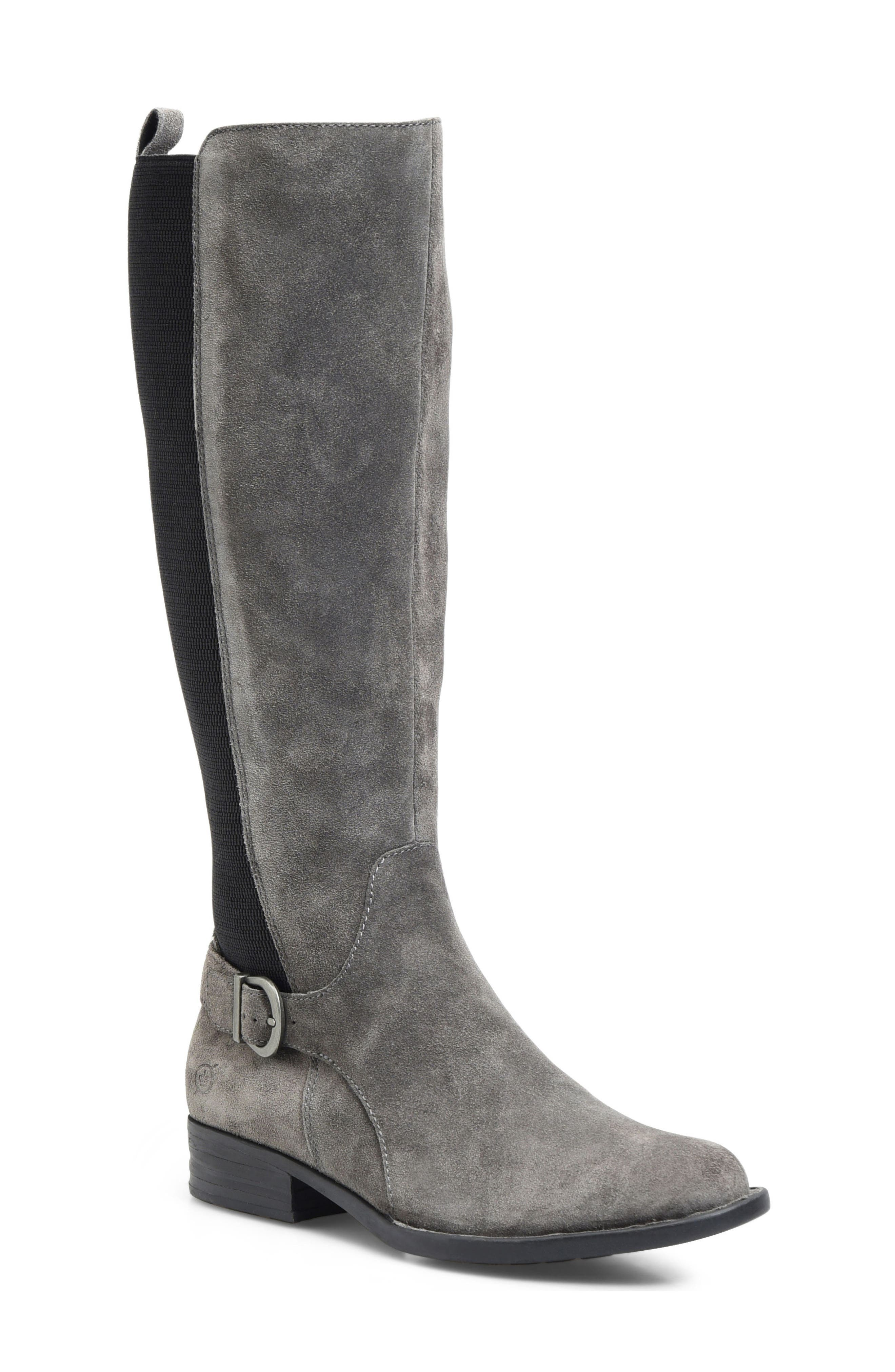 Campbell Knee High Elastic Back Boot,                             Main thumbnail 2, color,