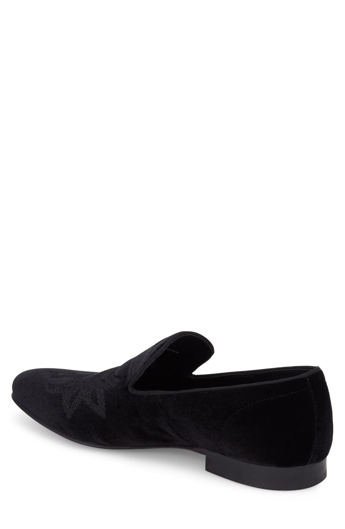 Lorax Venetian Loafer,                             Alternate thumbnail 2, color,                             BLACK VELVET